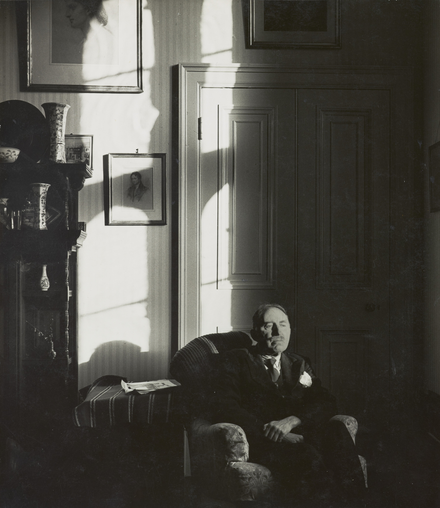 Bill Brandt. E.M. Forster in His Room at King's College, Cambridge. 1947