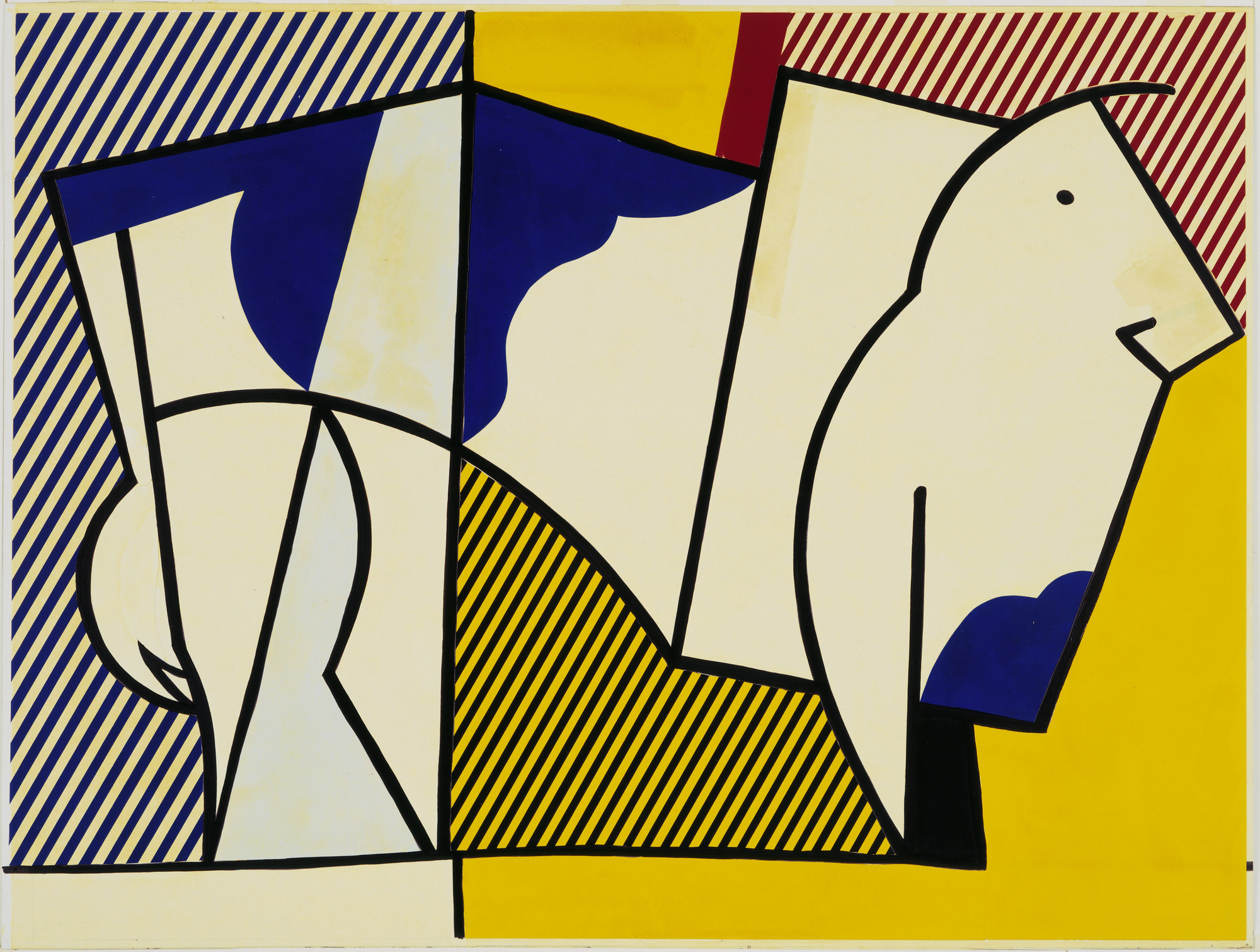 Roy Lichtenstein. Study for Bull III. 1973
