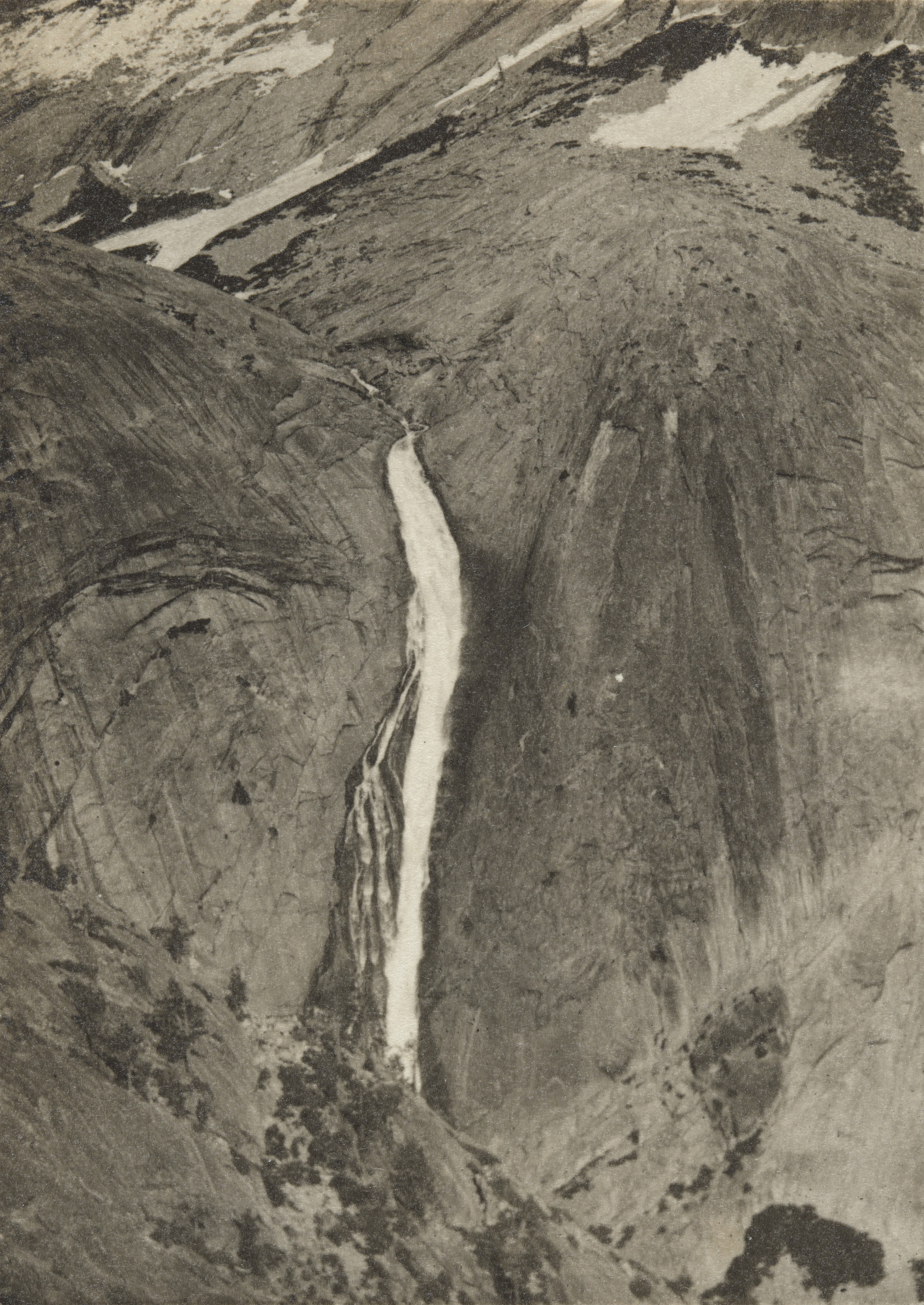 Ansel Adams. Fall in Upper Tenaya Canyon, Yosemite National Park, California. c. 1920
