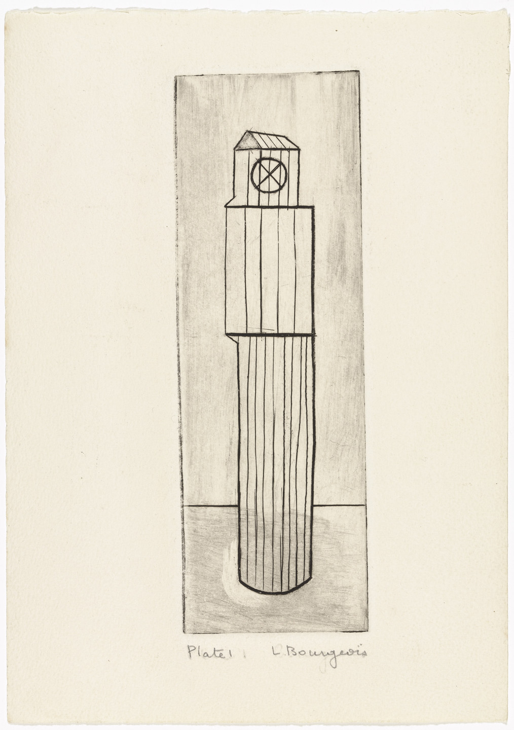 Louise Bourgeois. Plate 1 of 9, from the illustrated book, He Disappeared into Complete Silence, first edition (Example 1). 1947