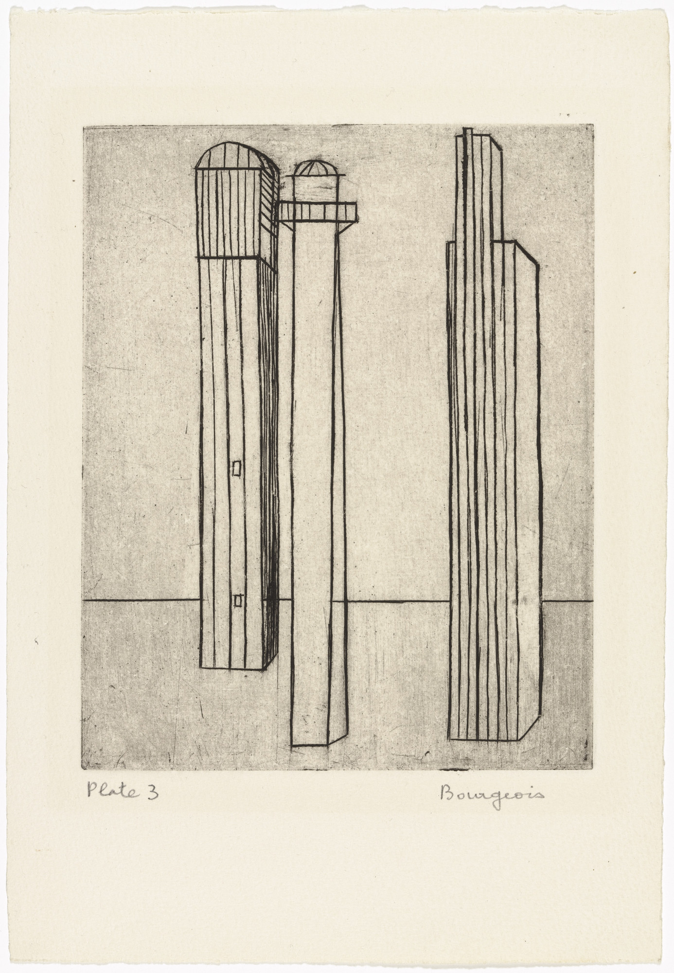 Louise Bourgeois. Plate 3 of 9, from the illustrated book, He Disappeared into Complete Silence, first edition (Example 1). 1947