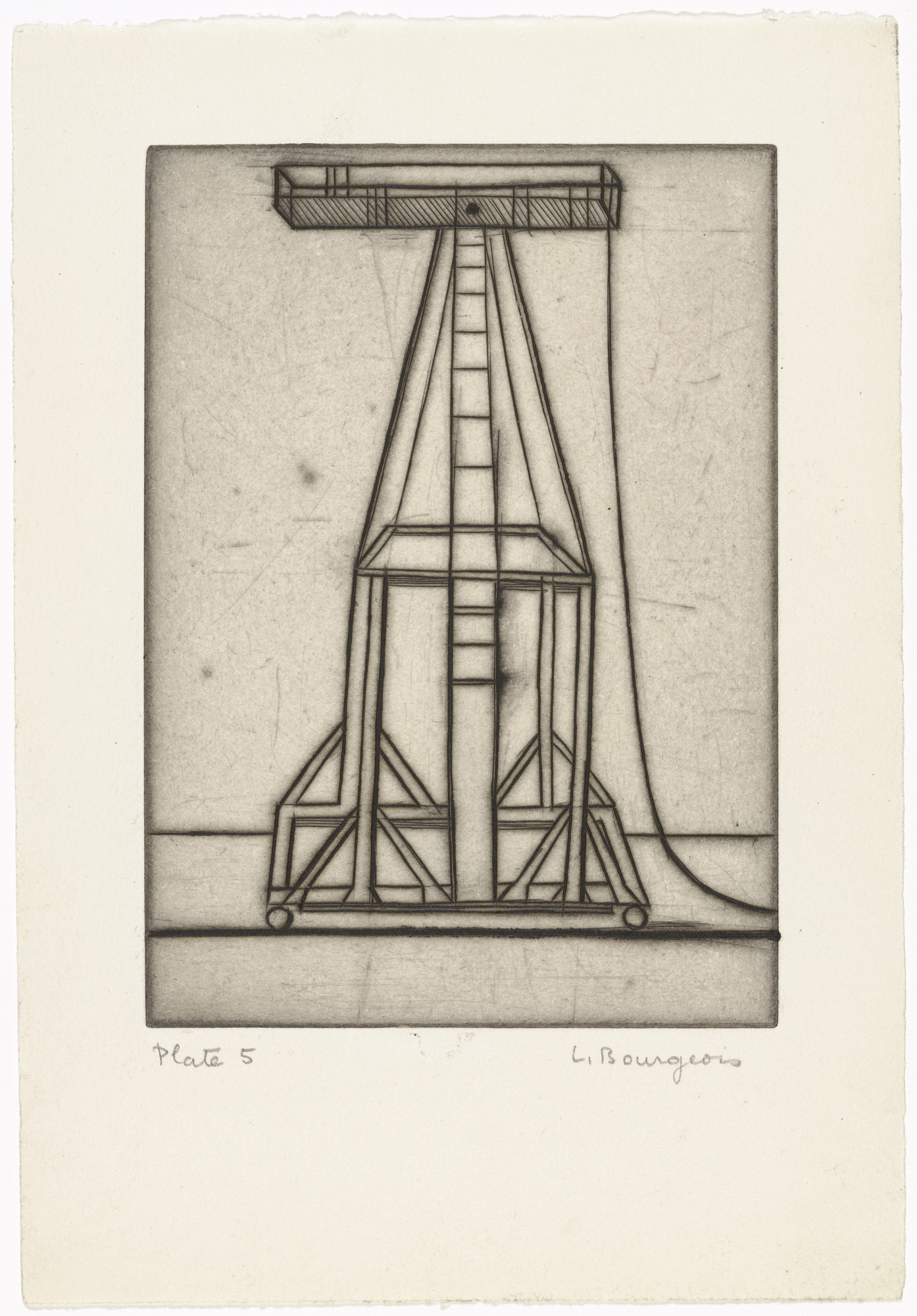 Louise Bourgeois. Plate 5 of 9, from the illustrated book, He Disappeared into Complete Silence, first edition (Example 1). 1947