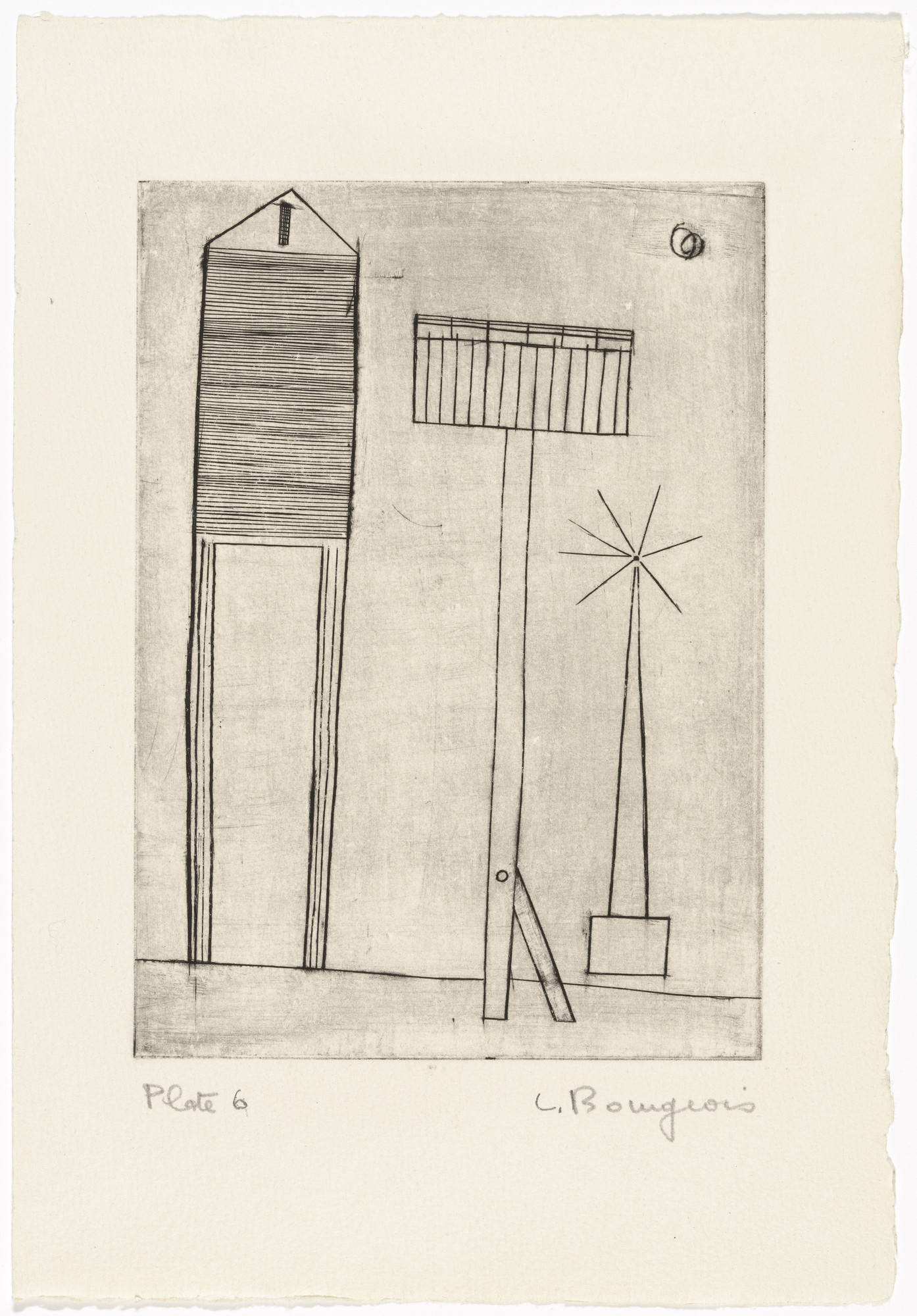 Louise Bourgeois. Plate 6 of 9, from the illustrated book, He Disappeared into Complete Silence, first edition (Example 1). 1947