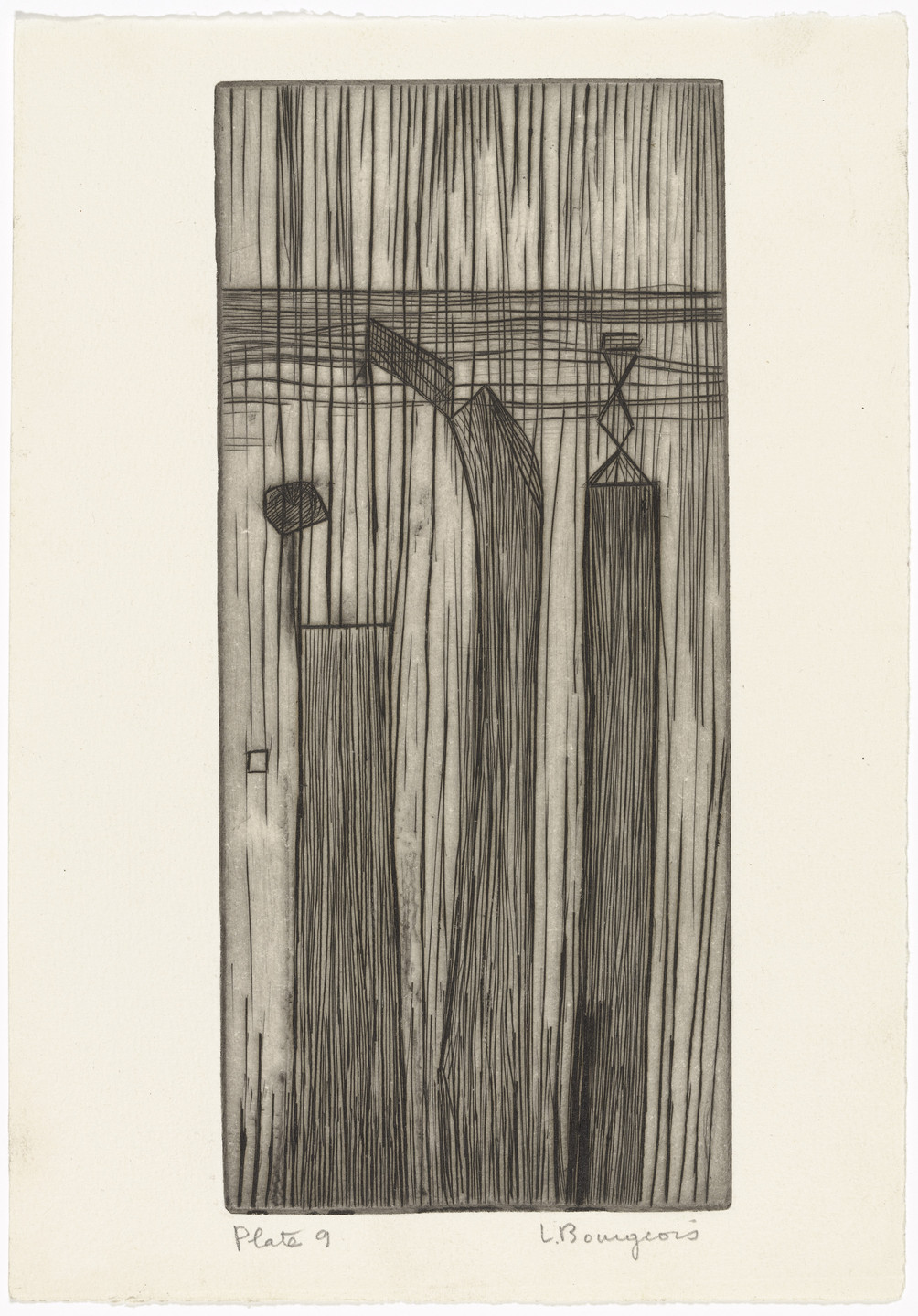 Louise Bourgeois. Plate 9 of 9, from the illustrated book, He Disappeared into Complete Silence, first edition (Example 1). 1947