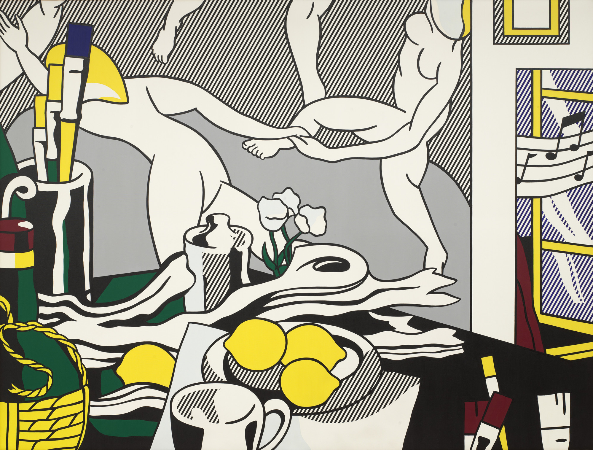 "Roy Lichtenstein. Artist's Studio ""The Dance"". 1974"