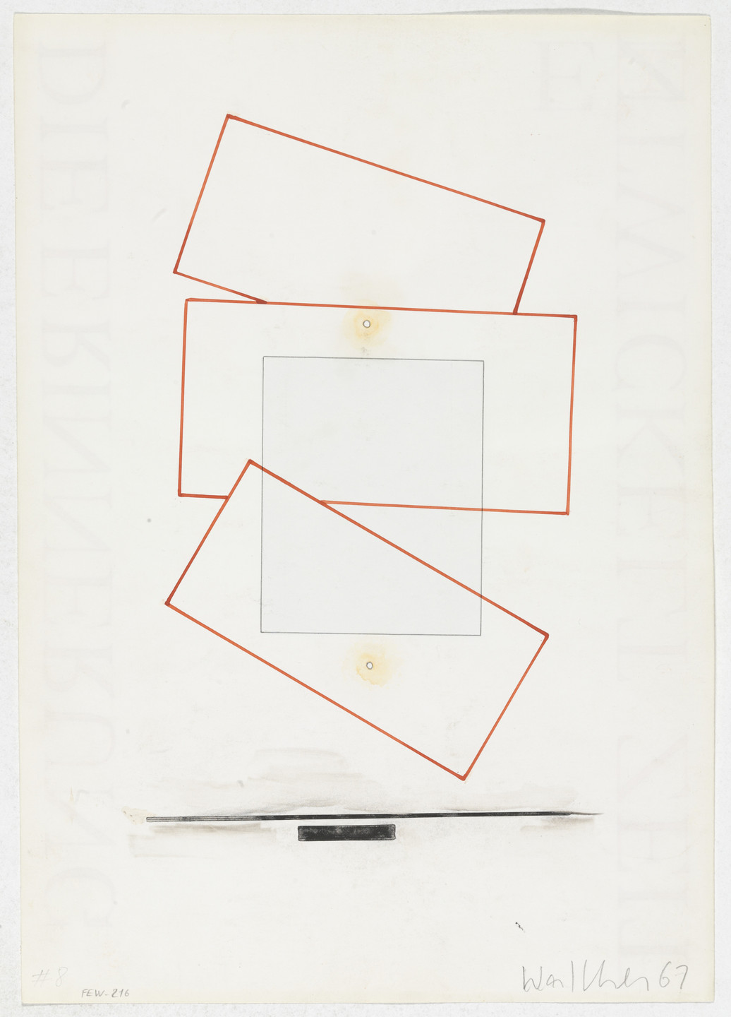 Franz Erhard Walther. Work Drawing: Night Piece. 1967