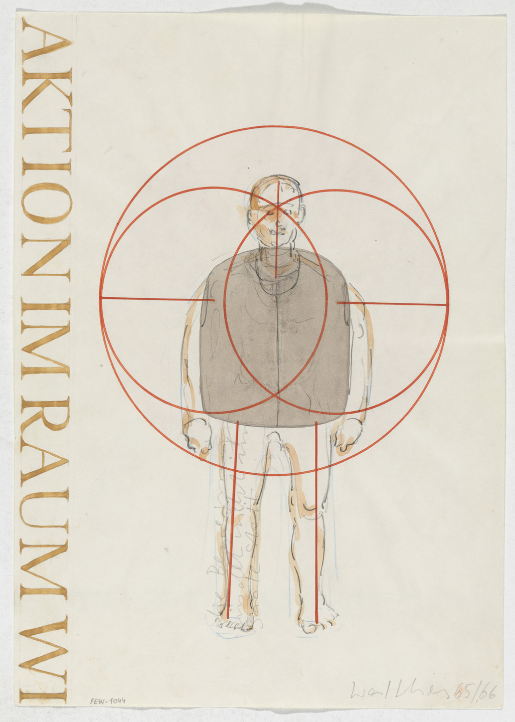 Franz Erhard Walther. Work Drawing: Vest. 1965/1966