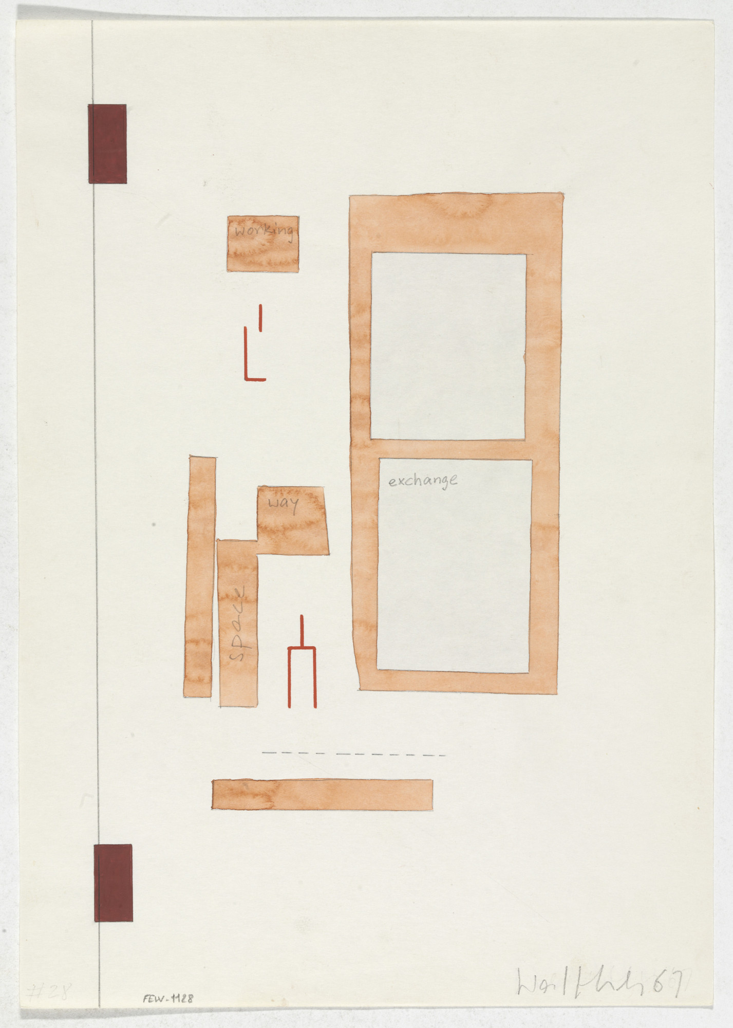 Franz Erhard Walther. Work Drawing: Opposite. 1967