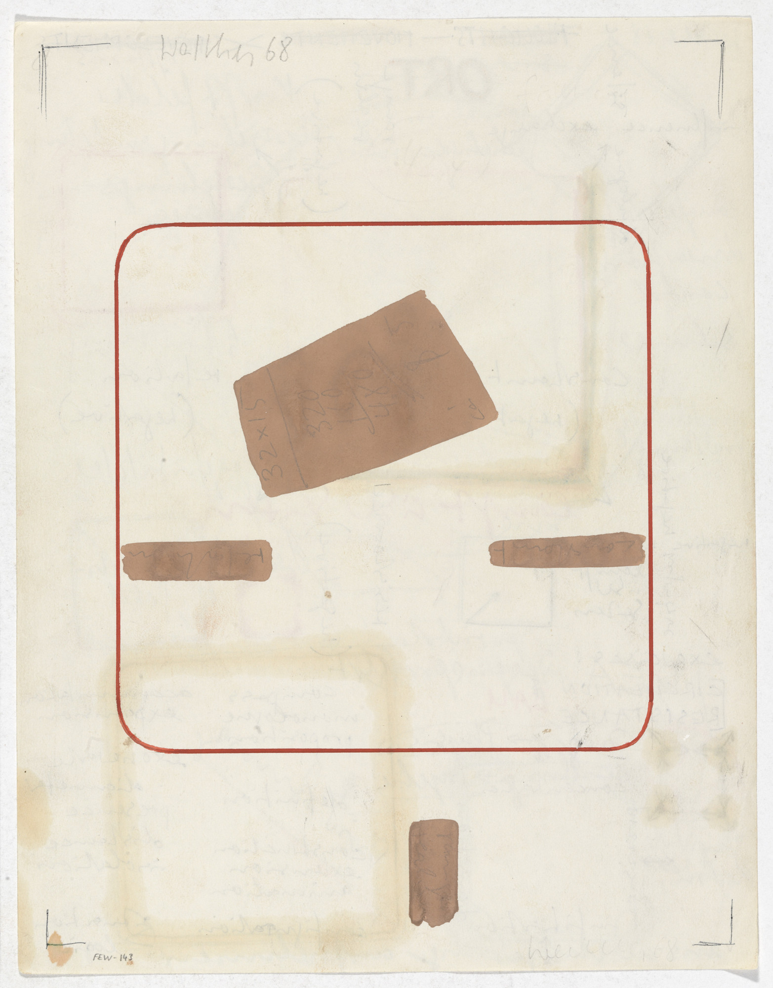 Franz Erhard Walther. Work Drawing: Four Body Weights. 1968