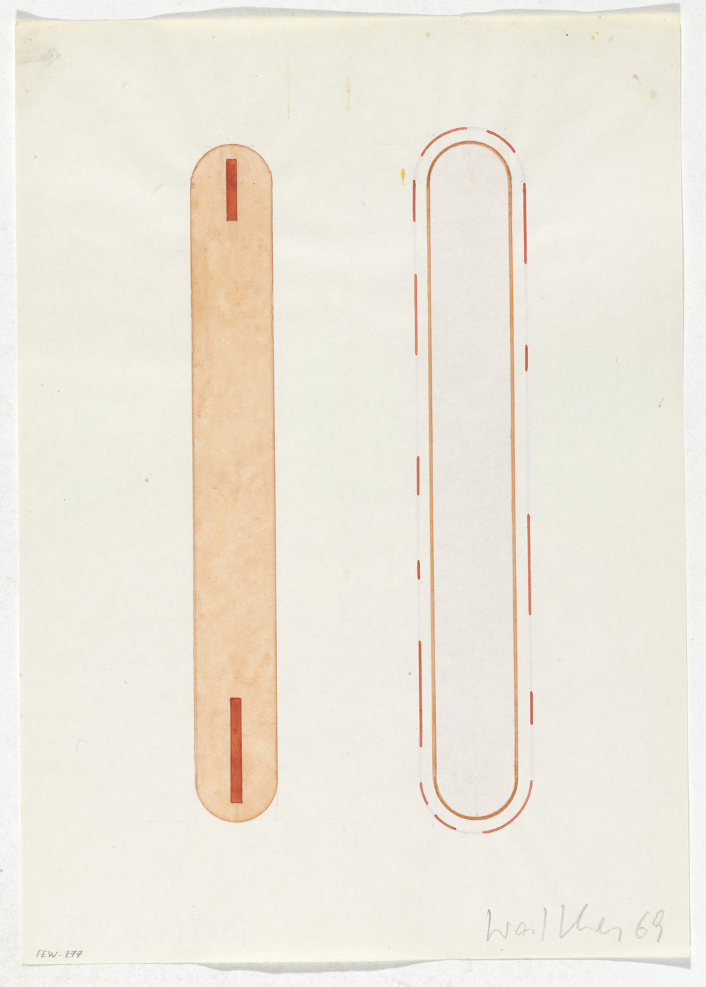 Franz Erhard Walther. Work Drawing: Body Weights. 1969