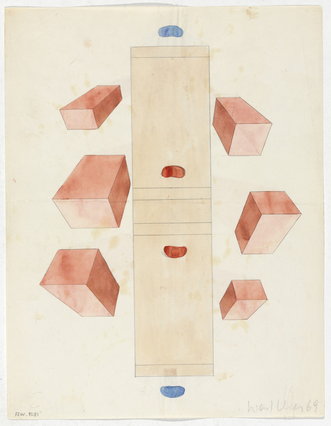 Franz Erhard Walther. Work Drawing: Subdivision. 1969