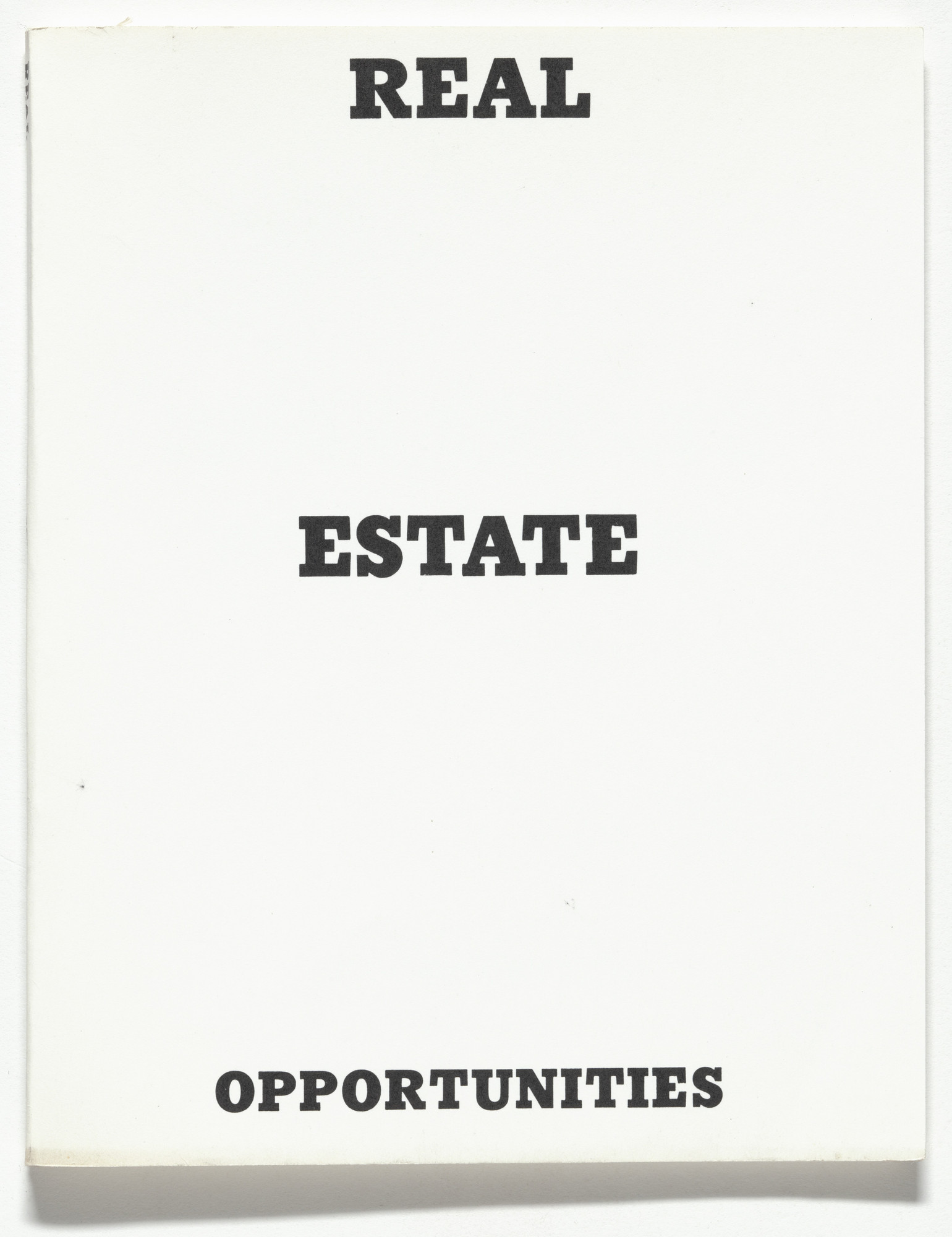 Edward Ruscha. Real Estate Opportunities. 1970