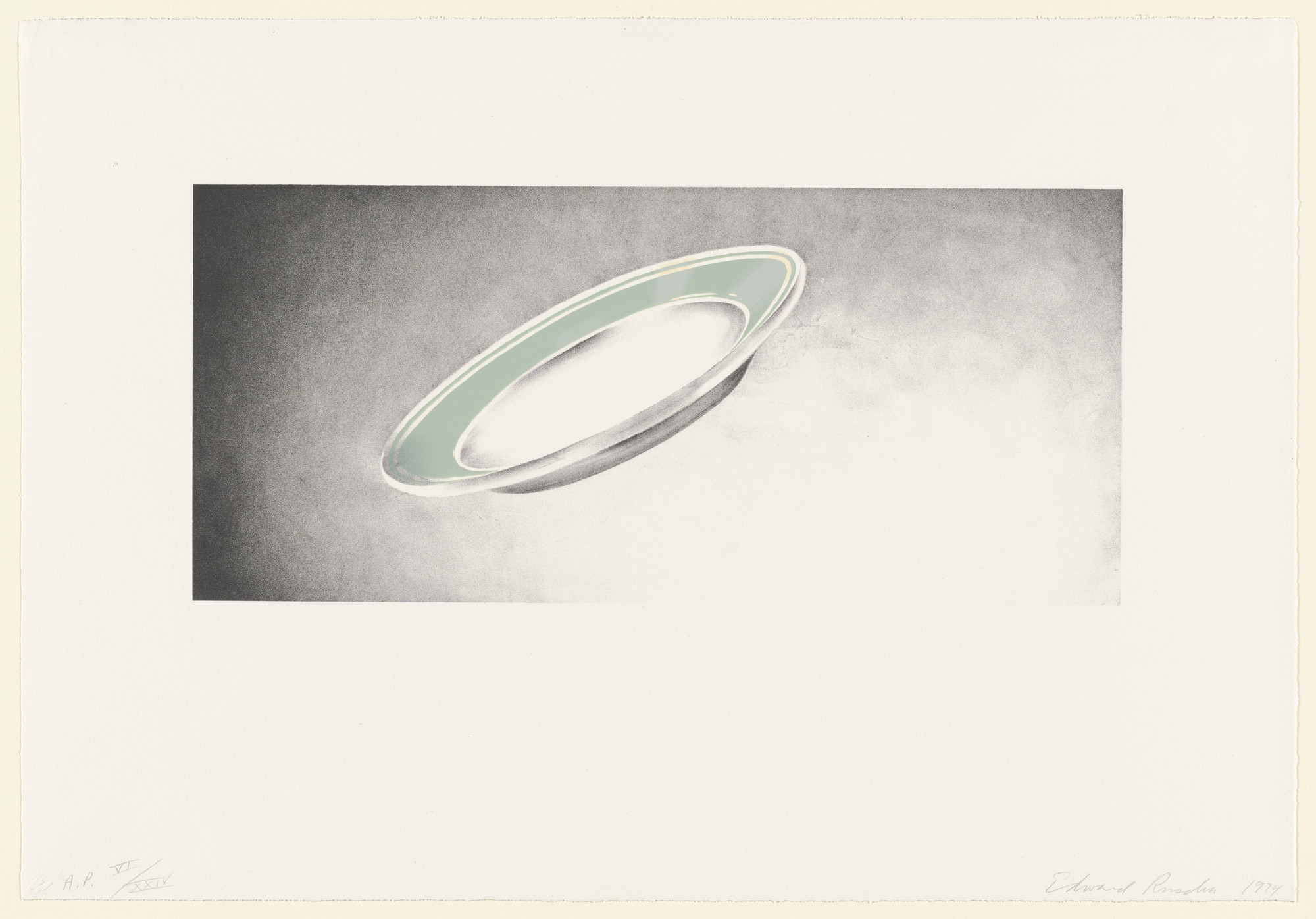 Edward Ruscha. Plate from Domestic Tranquility. 1974