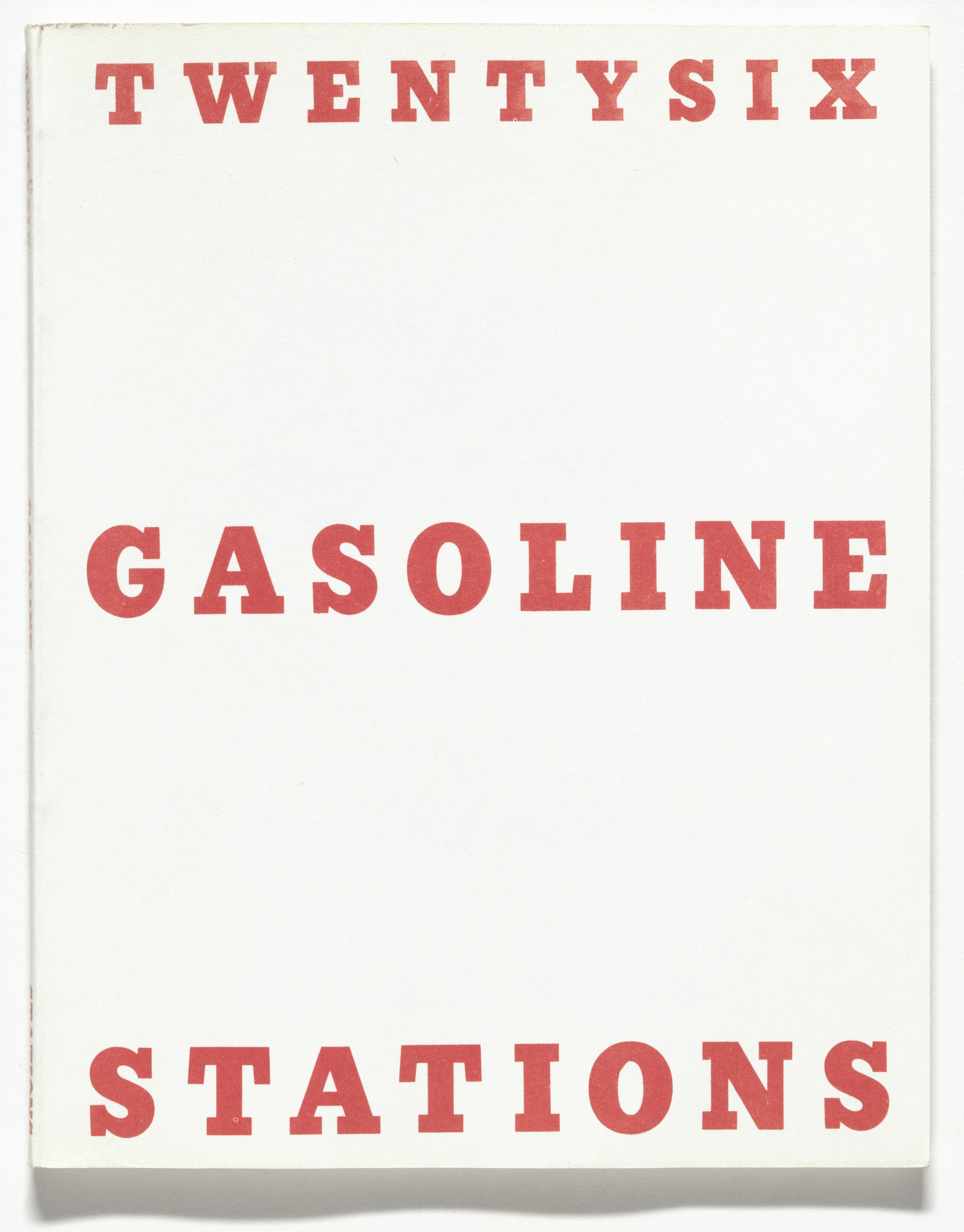 Edward Ruscha. Twentysix Gasoline Stations. 1963, printed 1969