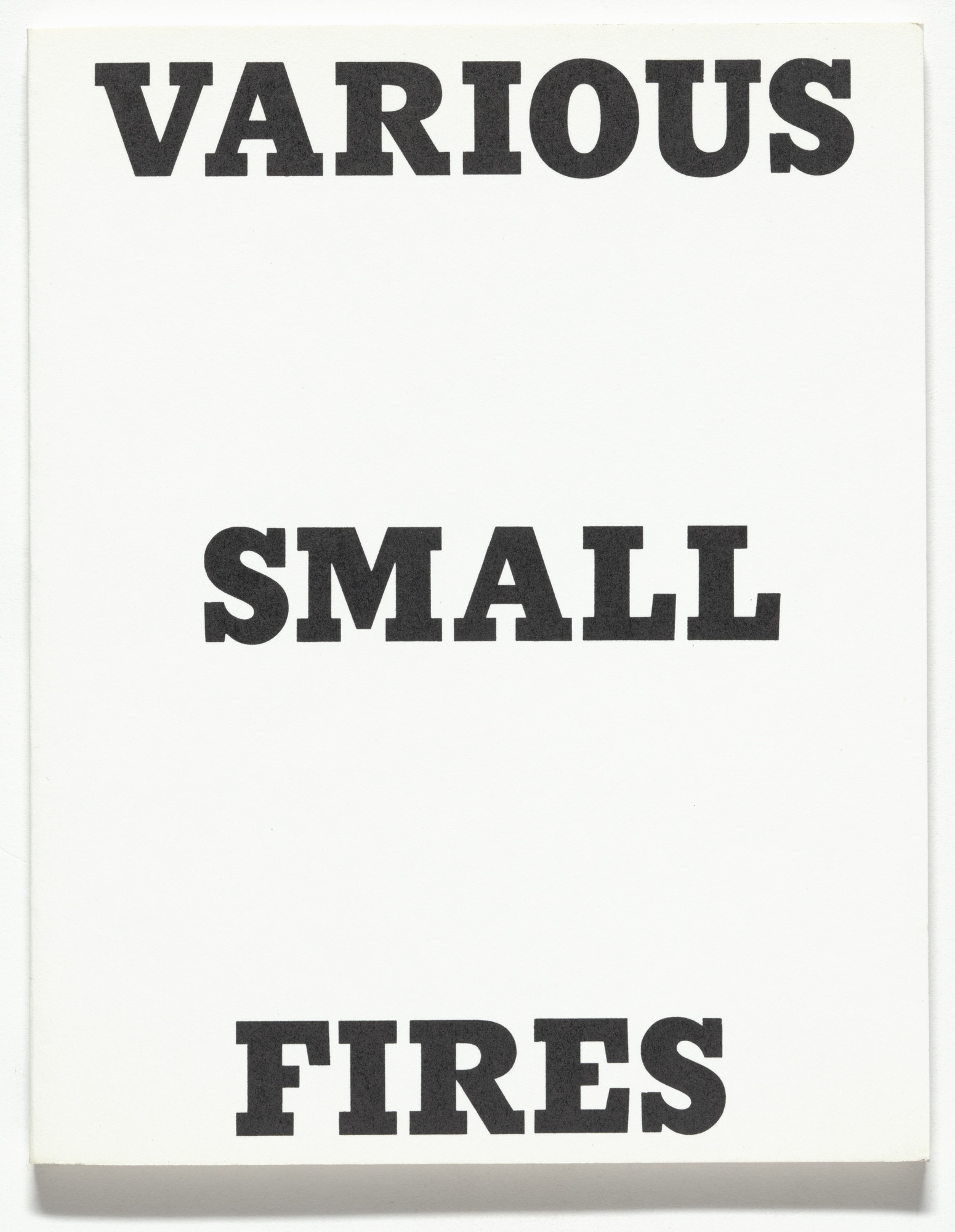 Edward Ruscha. Various Small Fires and Milk. 1964, printed 1970