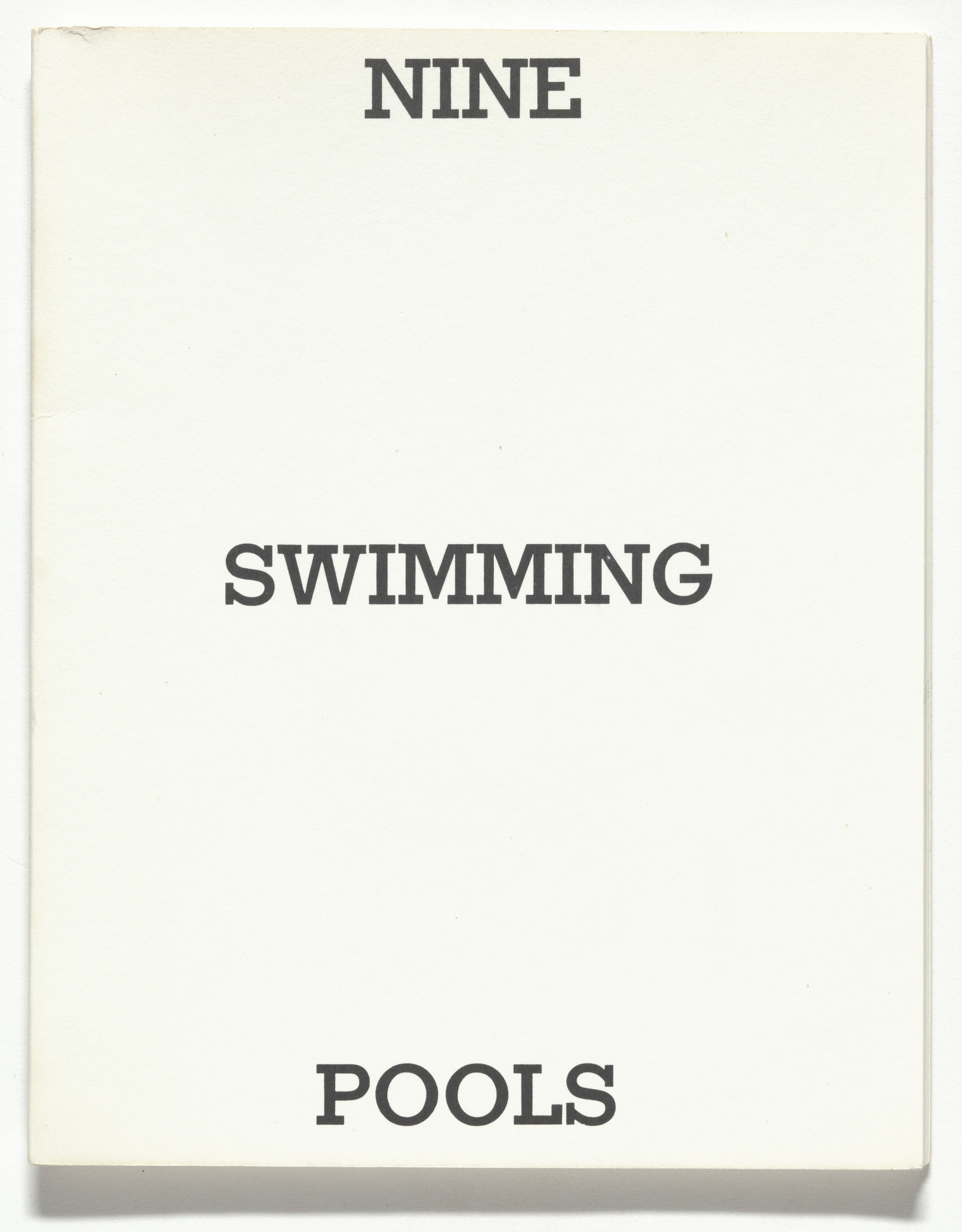 Edward Ruscha. Nine Swimming Pools and a Broken Glass. 1968