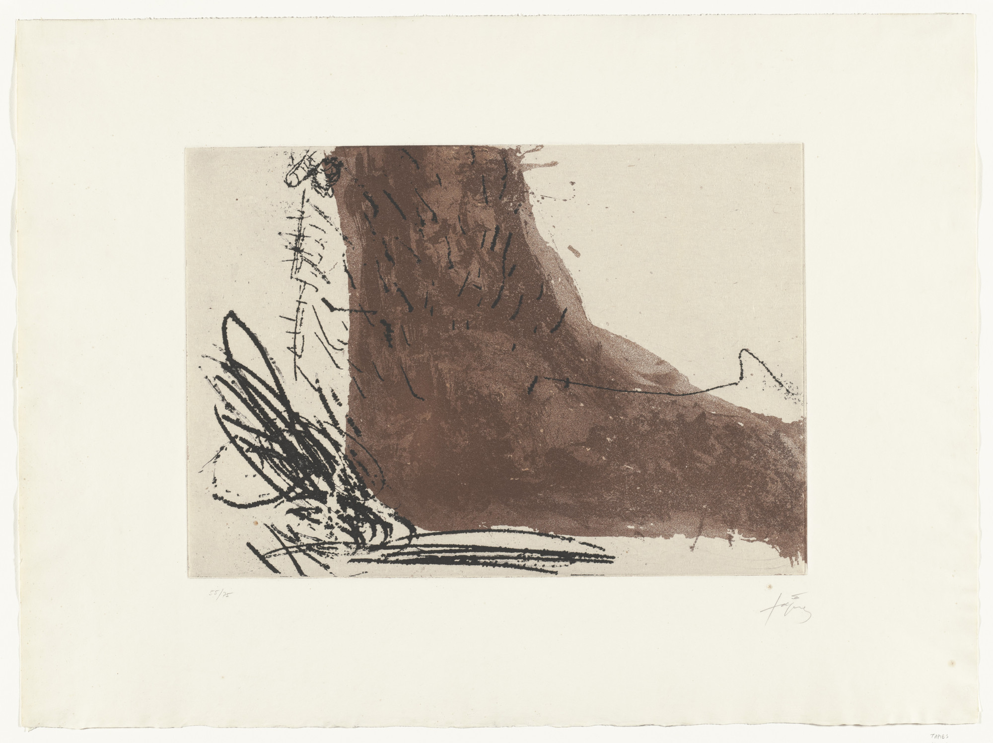 Antoni Tàpies. Foot (Le Pied). 1969