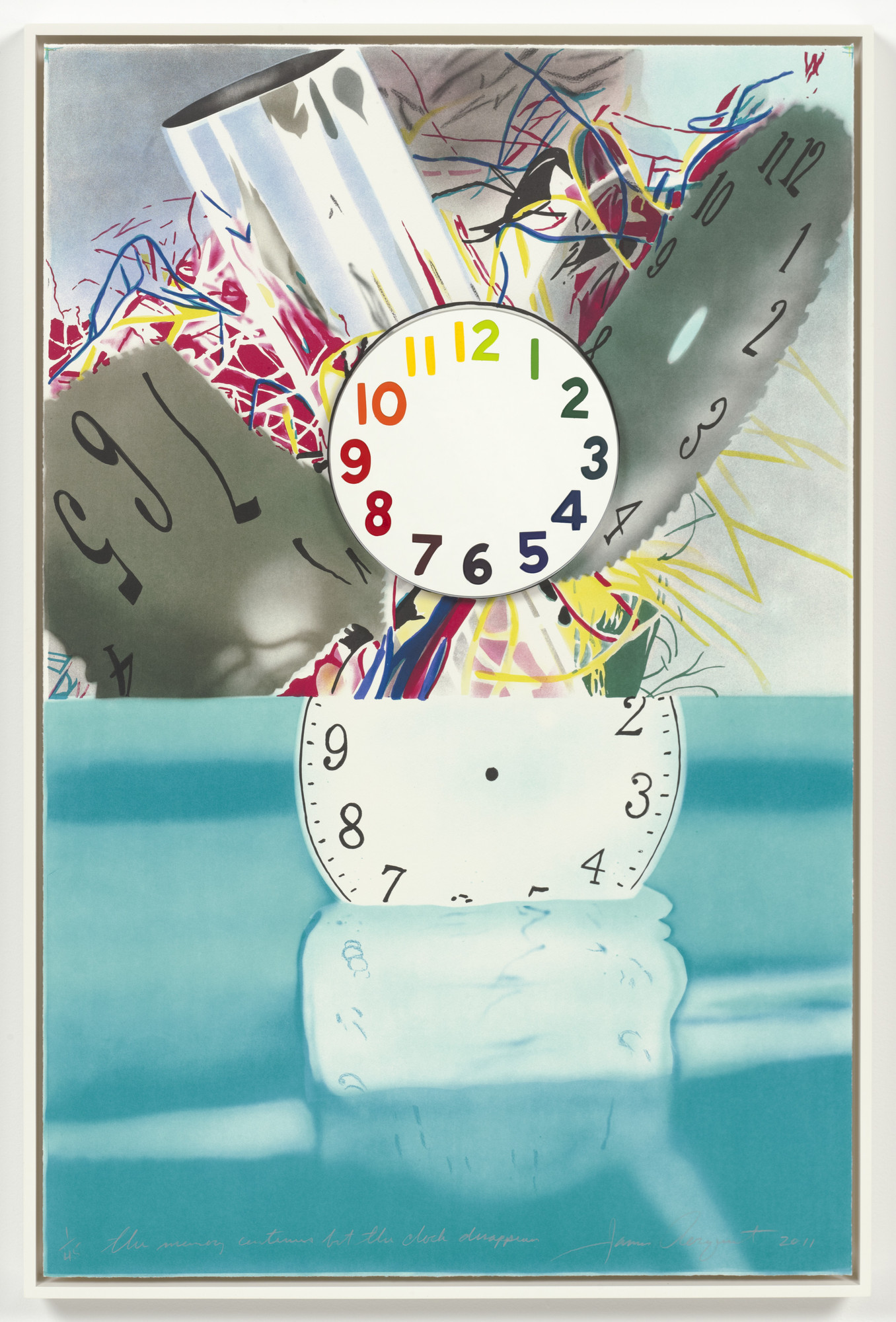 James Rosenquist. The Memory Continues but the Clock Disappears. 2011