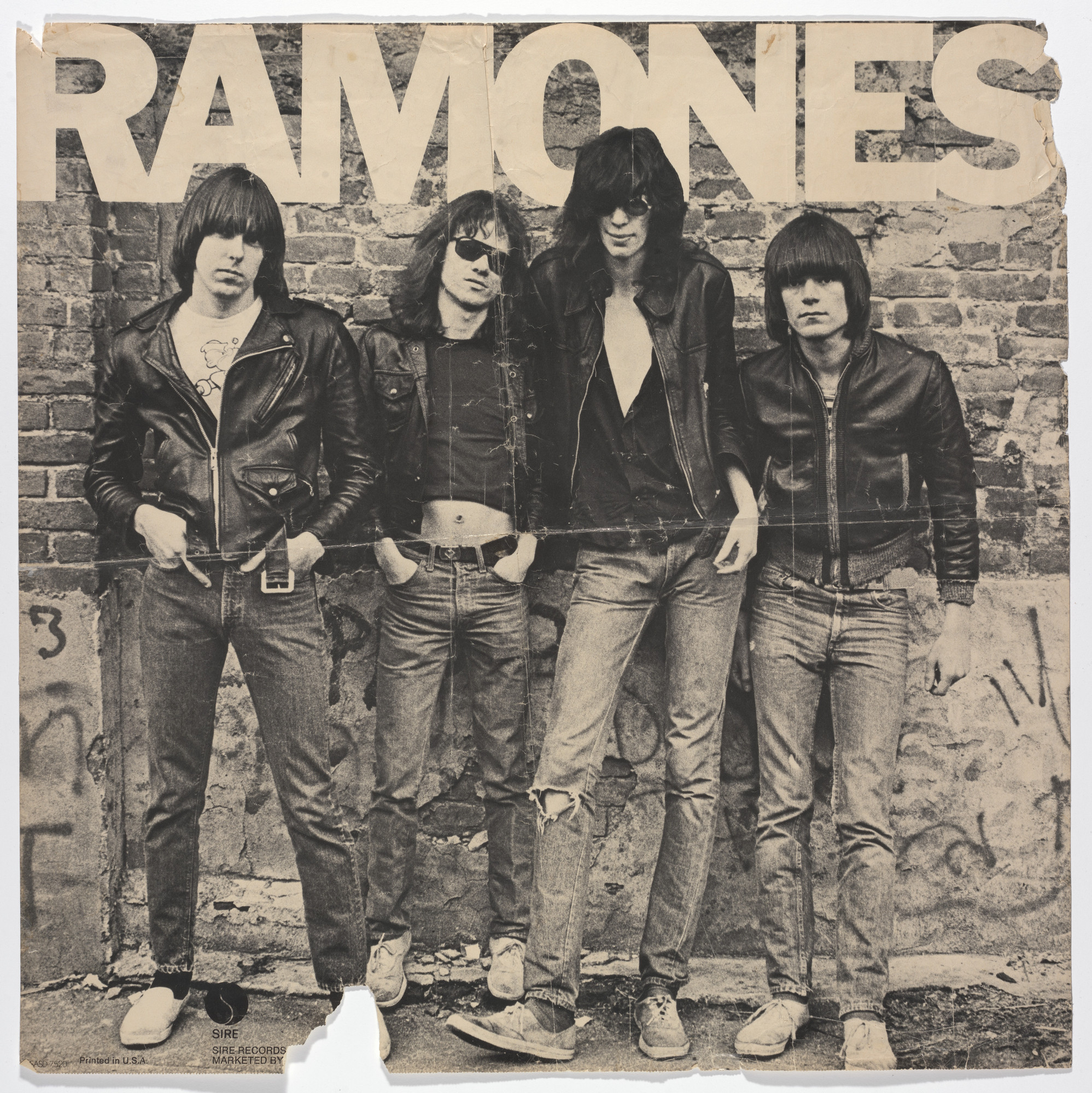 Arturo Vega, Roberta Bayley. Ramones, Debut LP (Poster for album distributed by Sire Records, New York). 1976