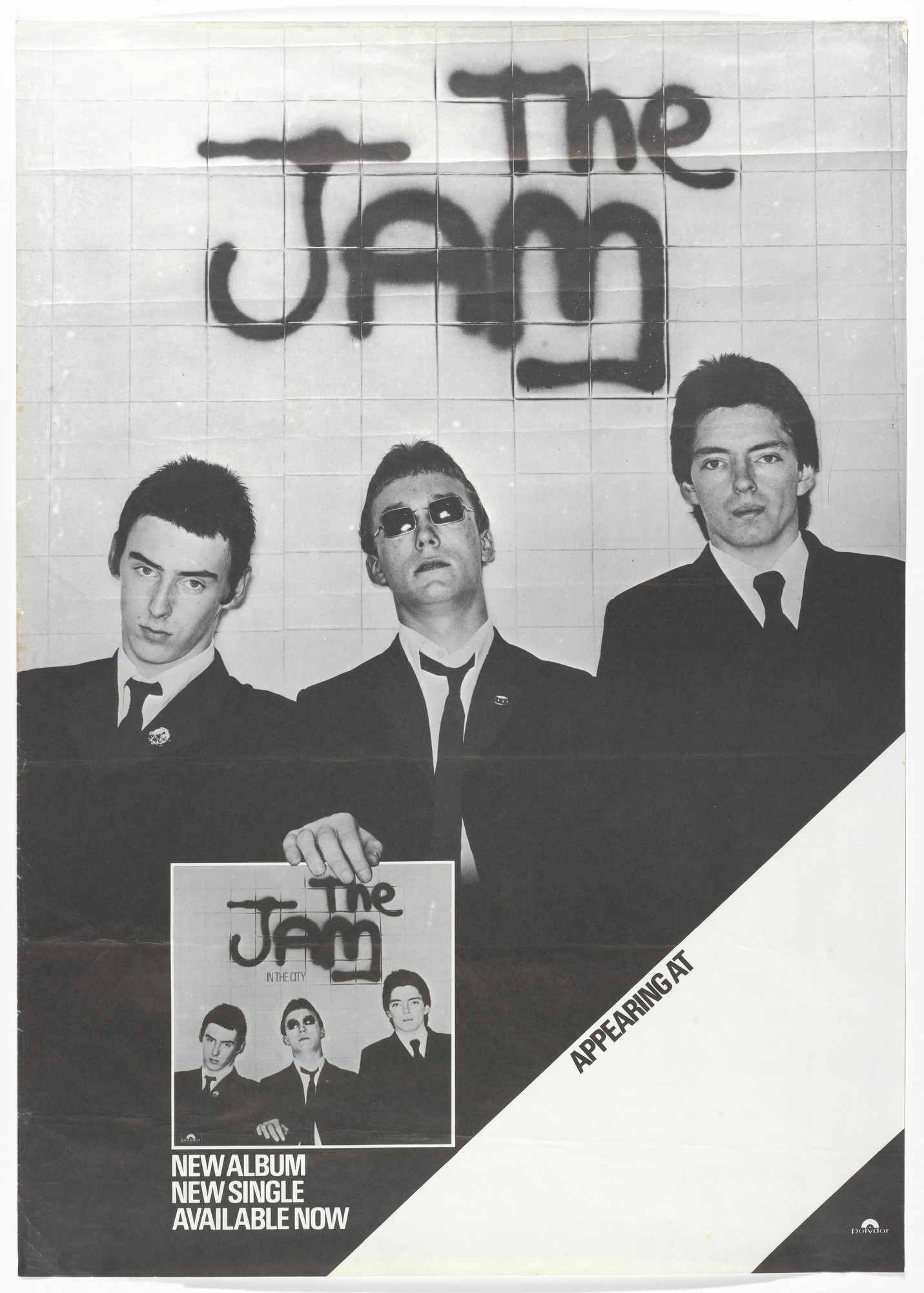 Unknown Designer. The Jam, In the City. 1977