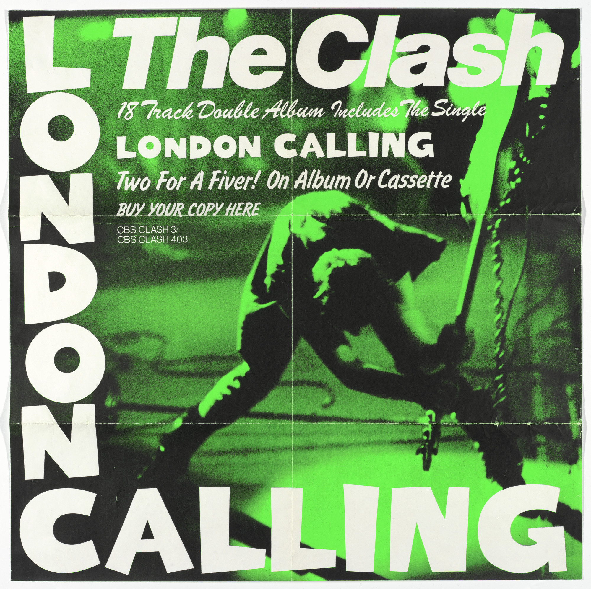 Ray Lowry, Pennie Smith. The Clash, London Calling (Poster for album distributed by Columbia/ CBS Records, New York). 1979