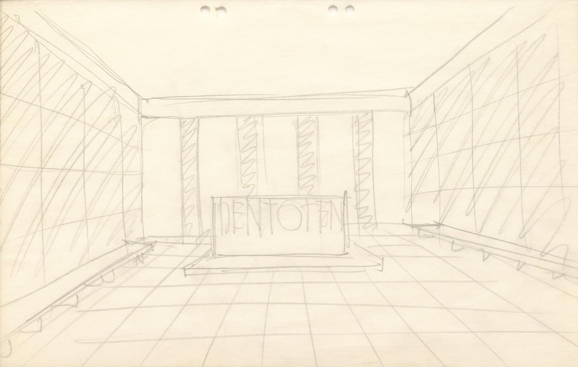 Ludwig Mies van der Rohe. Neue Wache War Memorial Project, Berlin-Mitte, Germany, Interior perspective. Sketch.. 1930 | MoMA