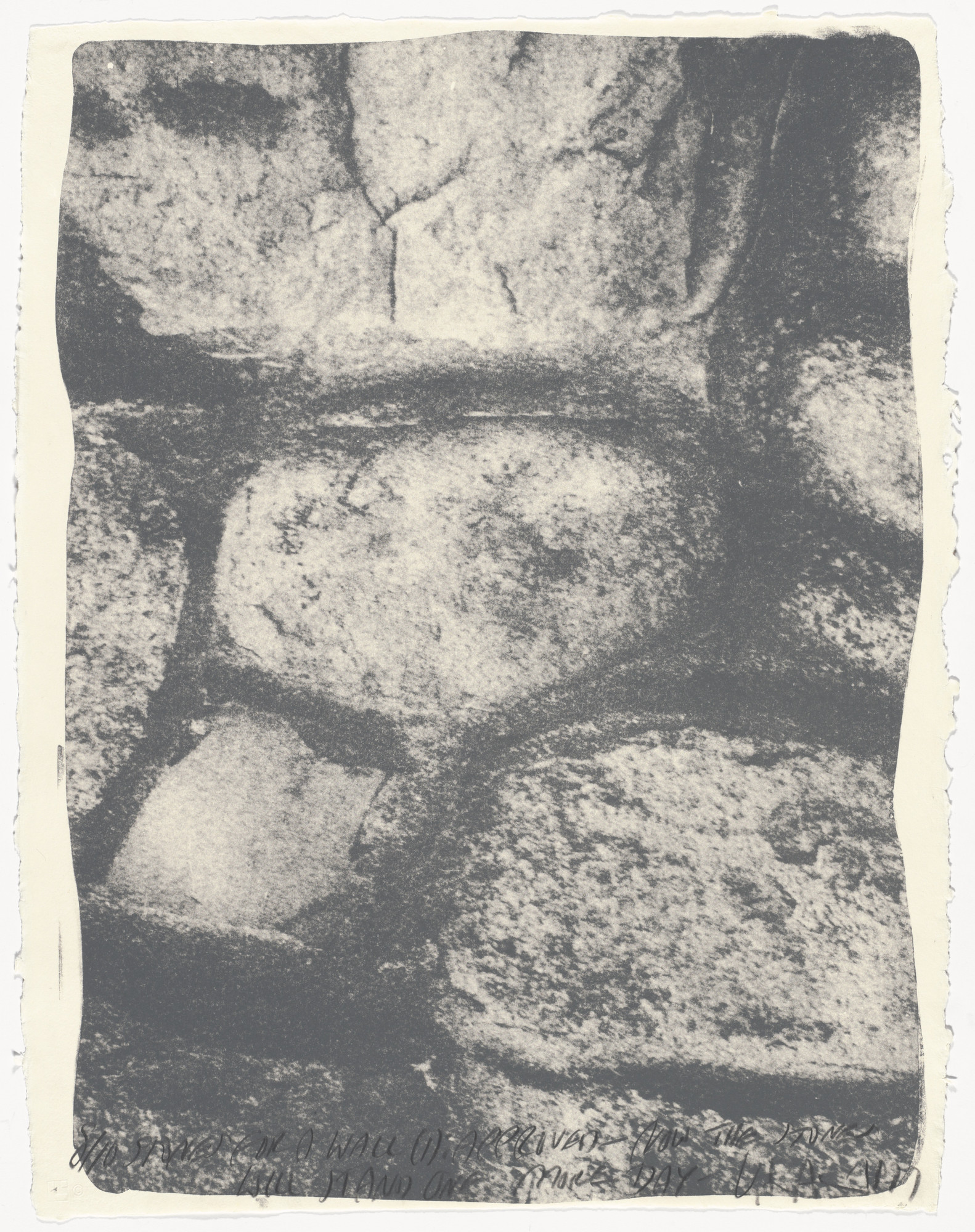 Vito Acconci. Stones for a Wall (1) from Stones for a Wall. 1977
