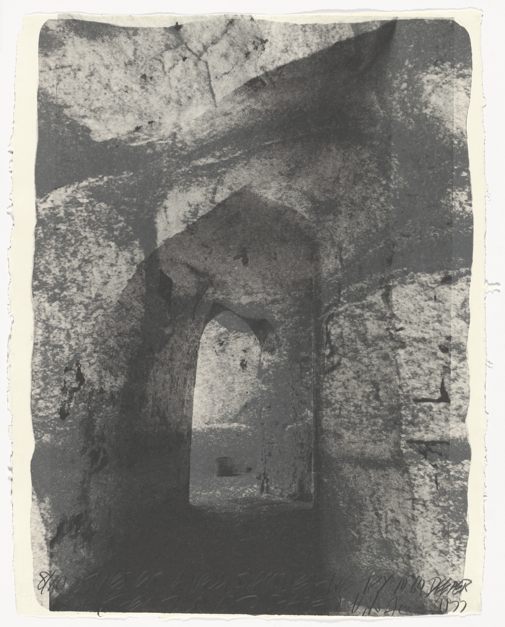 Vito Acconci. Stones for a Wall (5) from Stones for a Wall. 1977