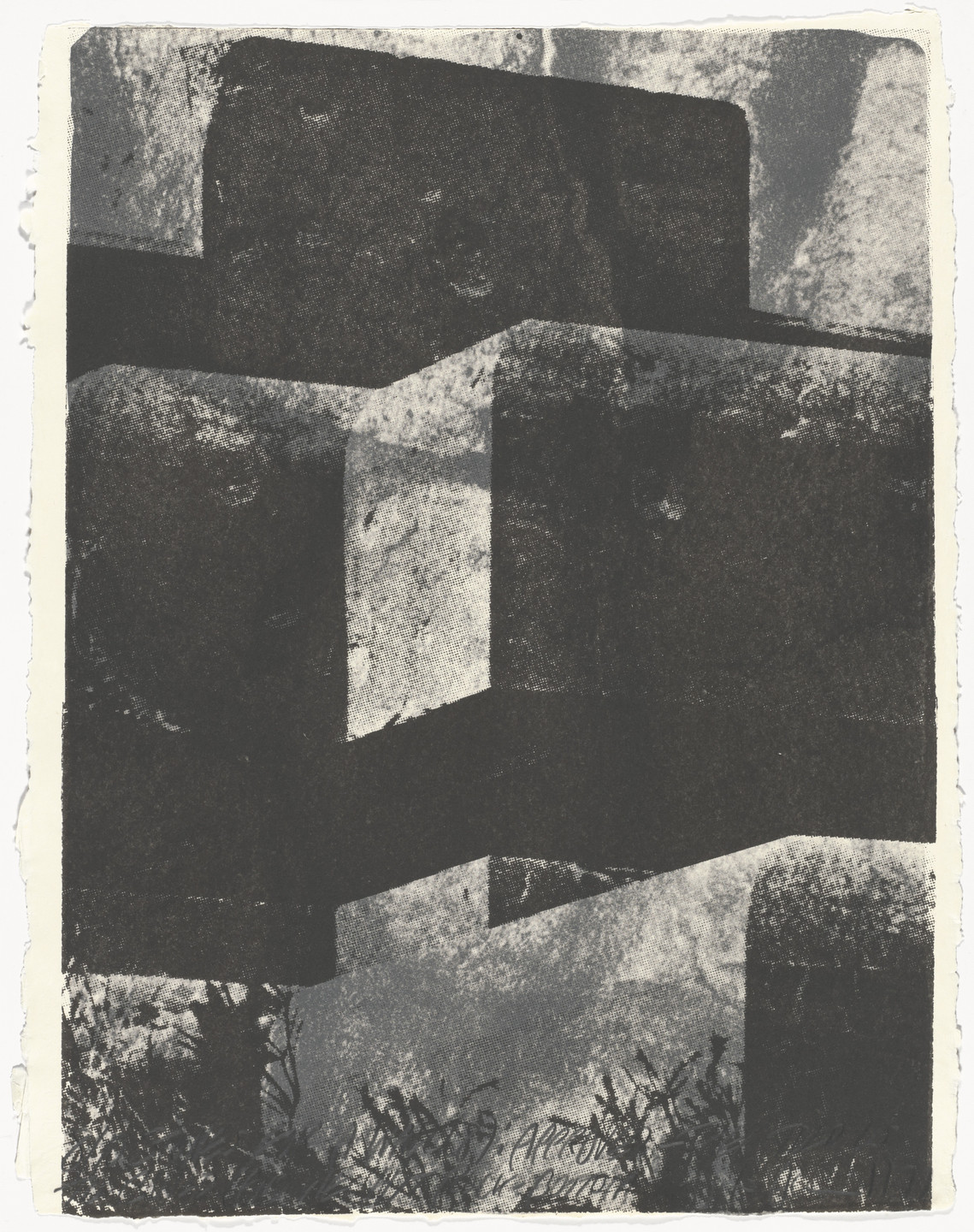 Vito Acconci. Stones for a Wall (8) from Stones for a Wall. 1977