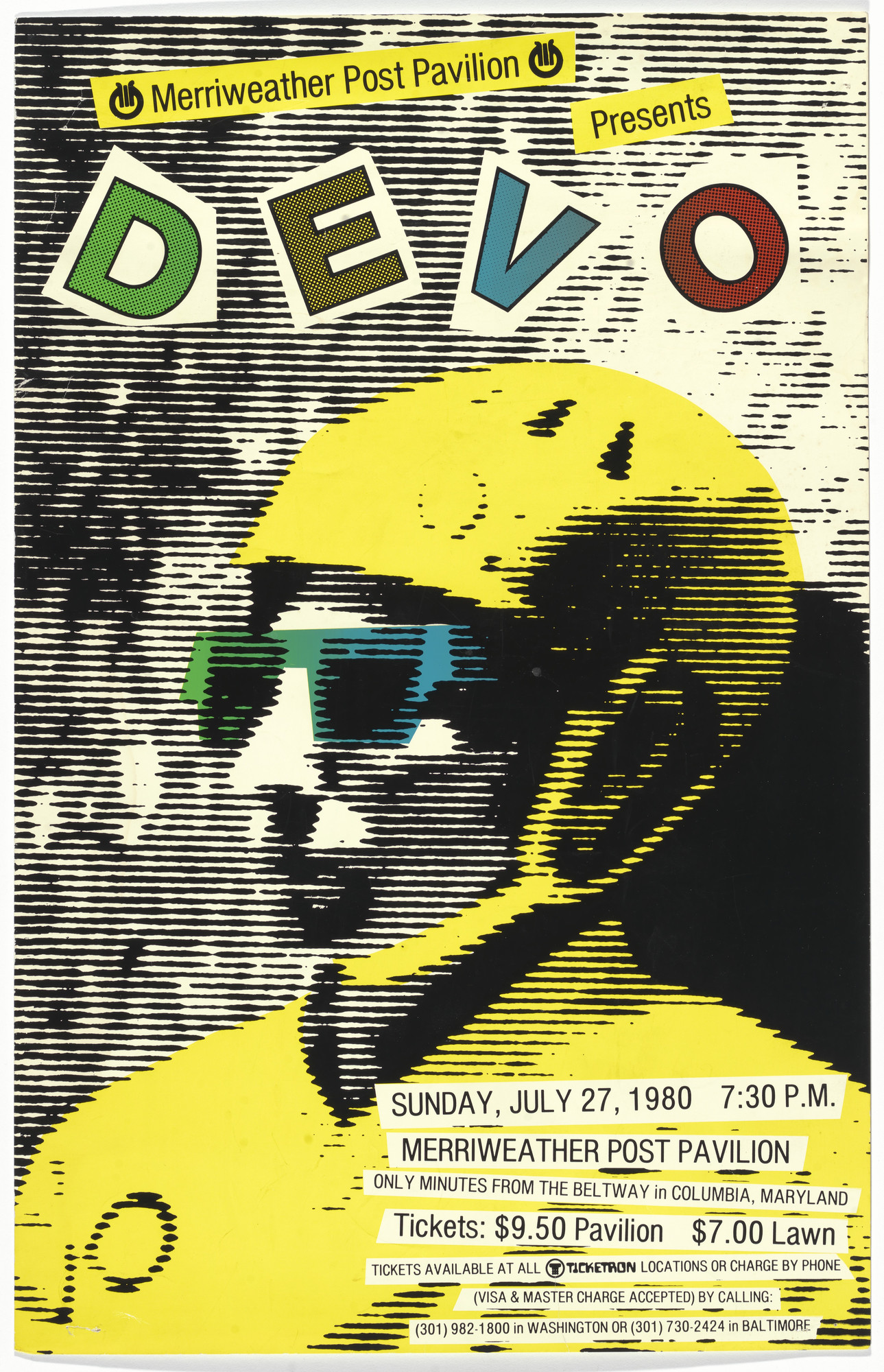 Unknown Designer, Devo. Devo, Baltimore Concert. 1980