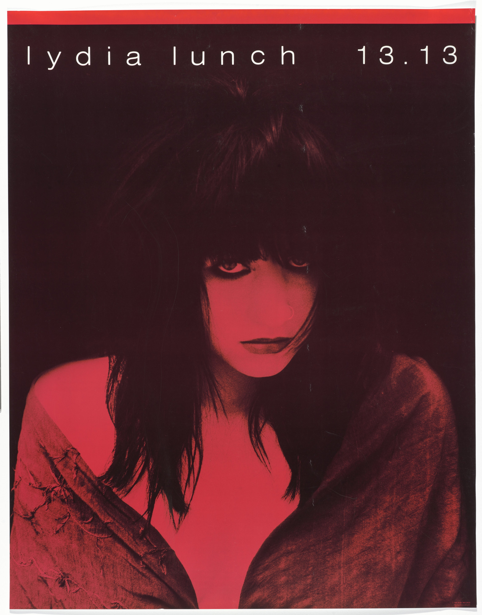 Unknown Designer, David Arnoff. Lydia Lunch, 13.13 (Poster for album distributed by Ruby Records, Los Angeles). 1981