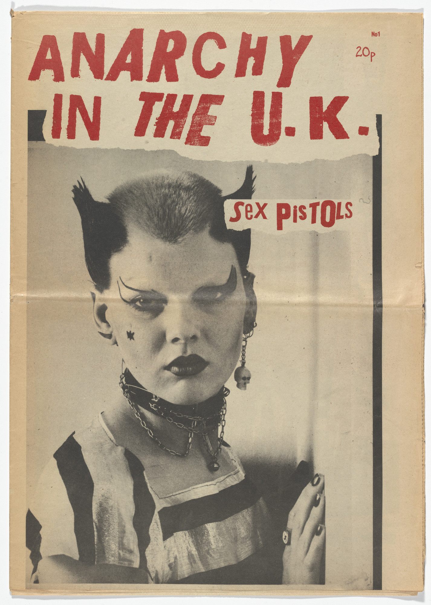 Jamie Reid, Sophie Richmond, Vivienne Westwood, Ray Stevenson. Anarchy in the UK no. 1 (Zine cover featuring Soo Catwoman). 1977