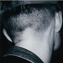 Wolfgang Tillmans. Chemistry square, back of head. 1992