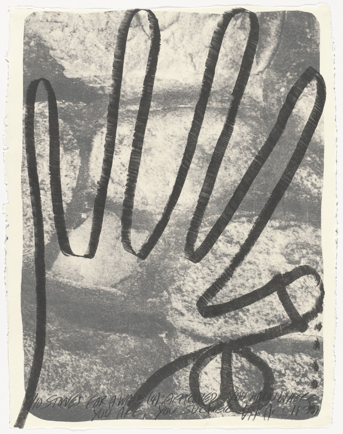 Vito Acconci. Stones for a Wall (4) from Stones for a Wall. 1977