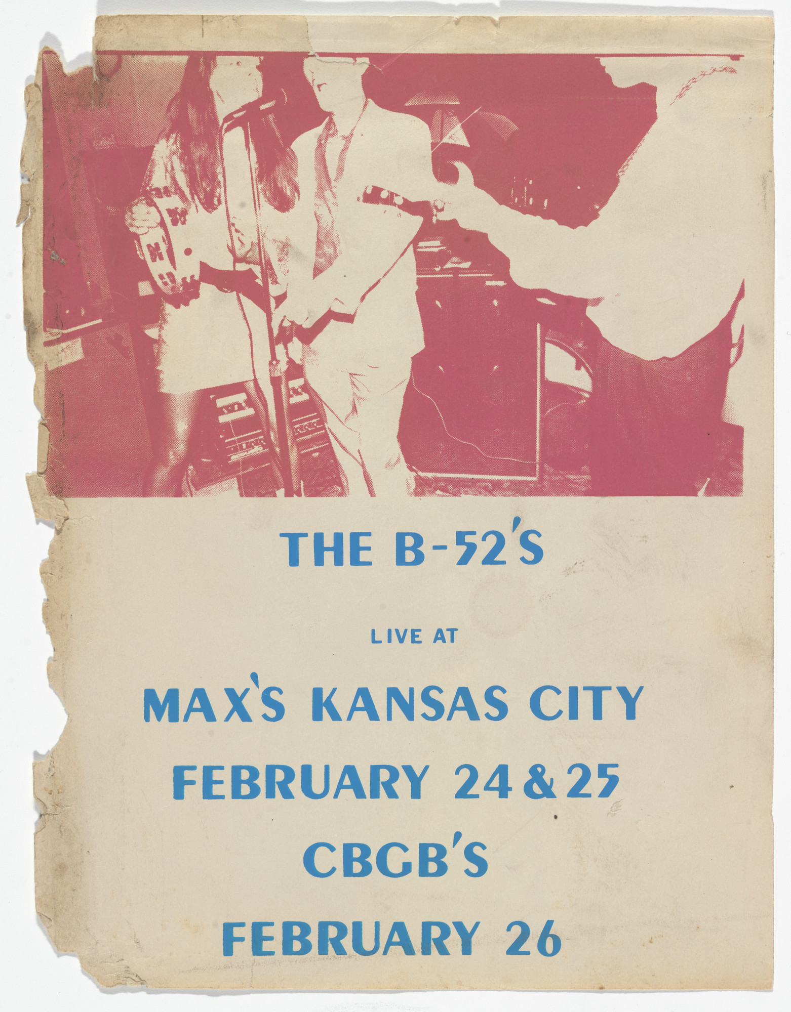 Unknown Designer. B52s, Max's Kansas City Flyer. 1978