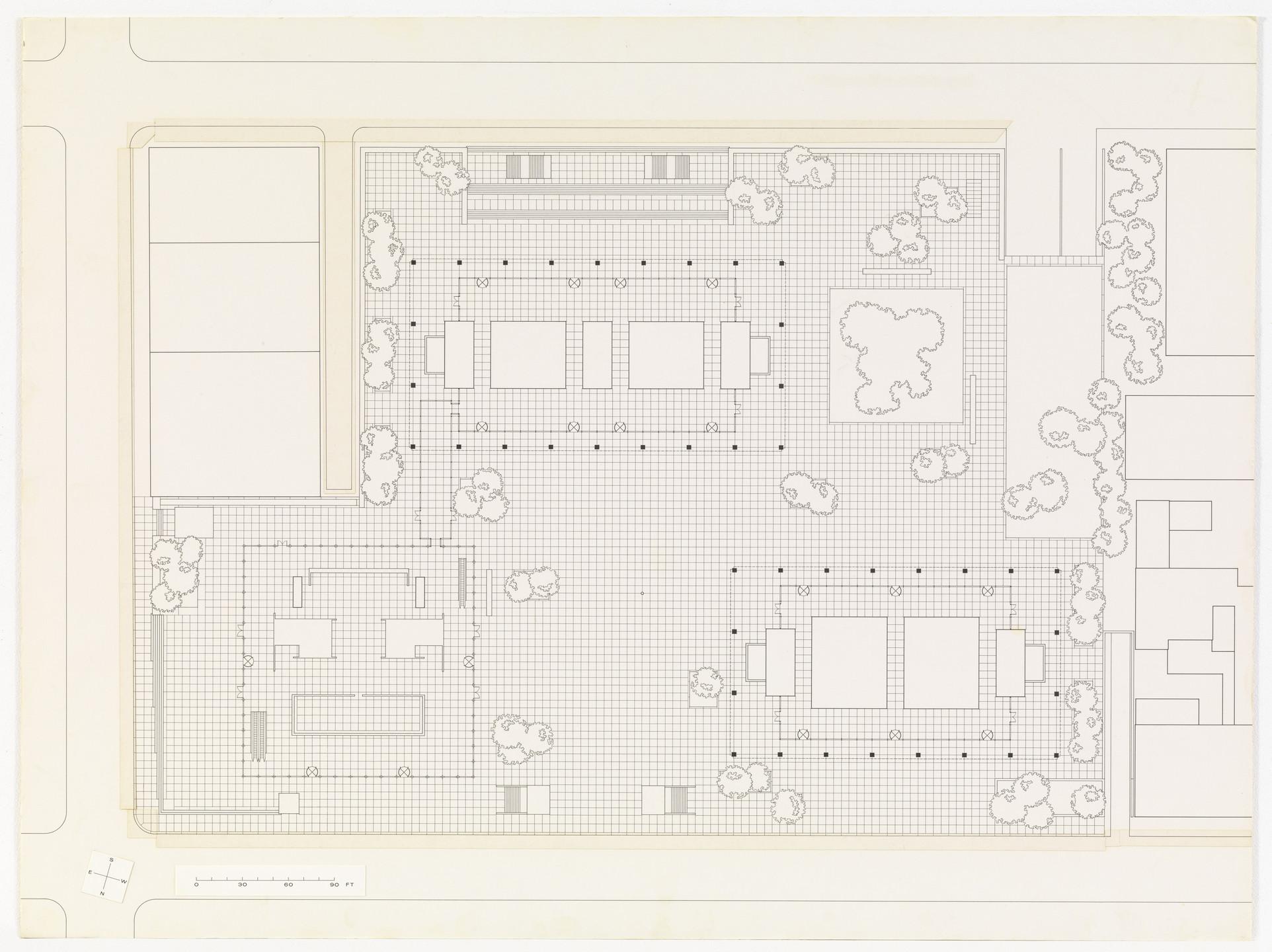 Ludwig Mies Van Der Rohe Toronto Dominion Centre Toronto Ontario Canada Ground Floor Plan C 1963 69 Moma