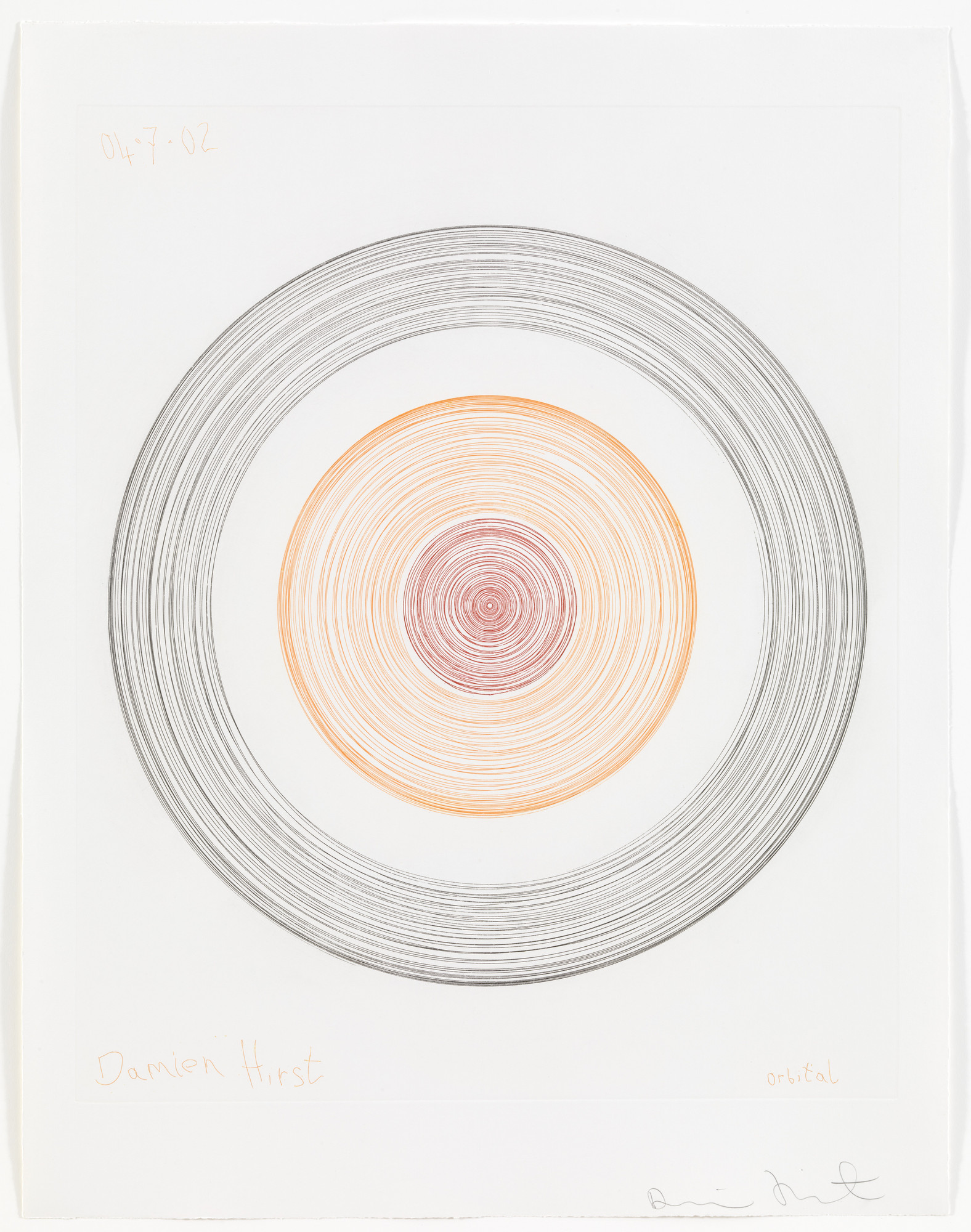 Damien Hirst. Orbital from In a Spin, the Action of the World on Things, Volume 1. 2002