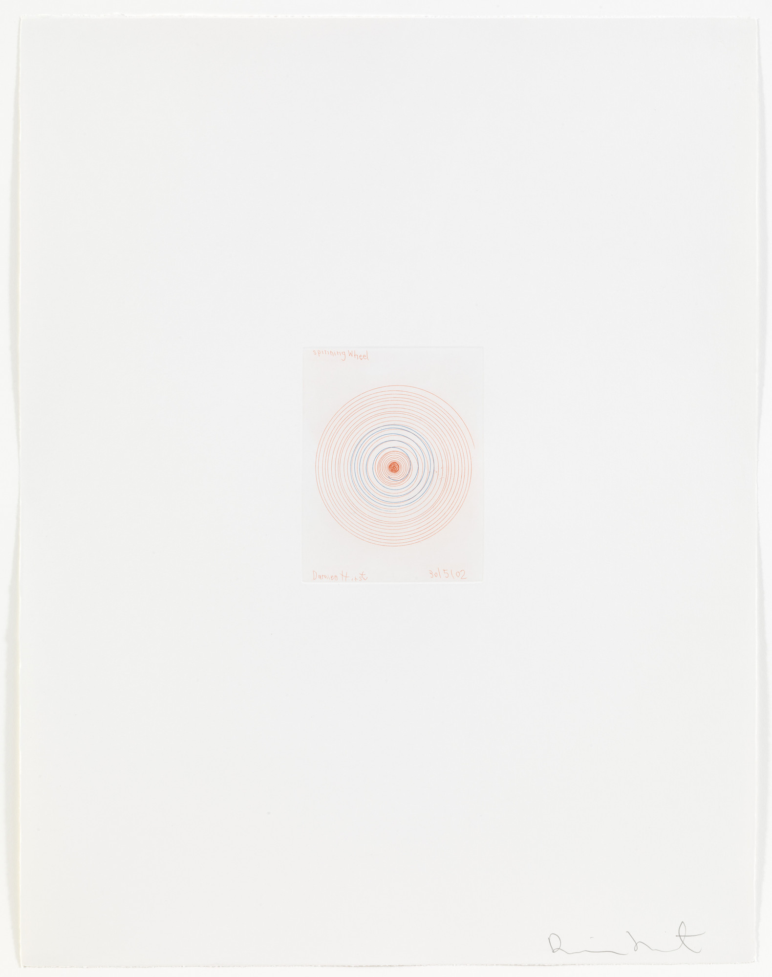 Damien Hirst. Spinning Wheel from In a Spin, the Action of the World on Things, Volume 1. 2002