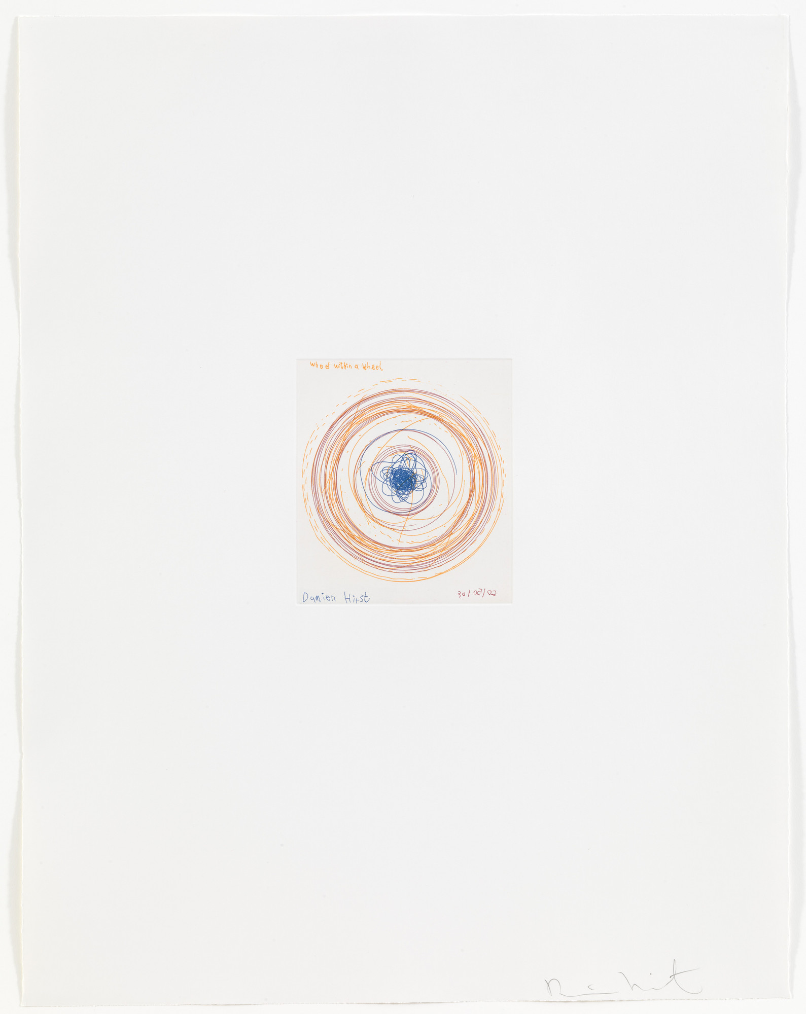 Damien Hirst. Wheel within a wheel from In a Spin, the Action of the World on Things, Volume 1. 2002