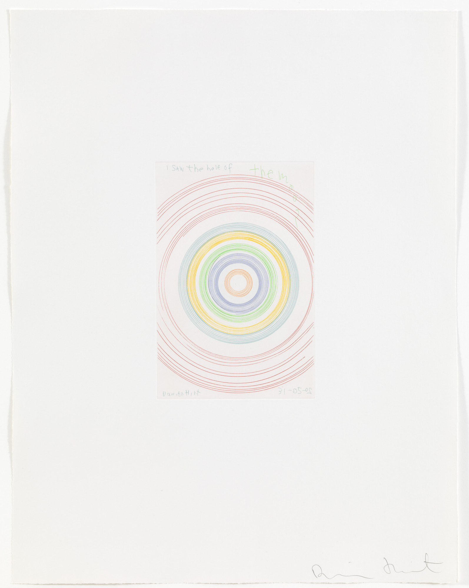 Damien Hirst. I saw the half of the moon from In a Spin, the Action of the World on Things, Volume 1. 2002