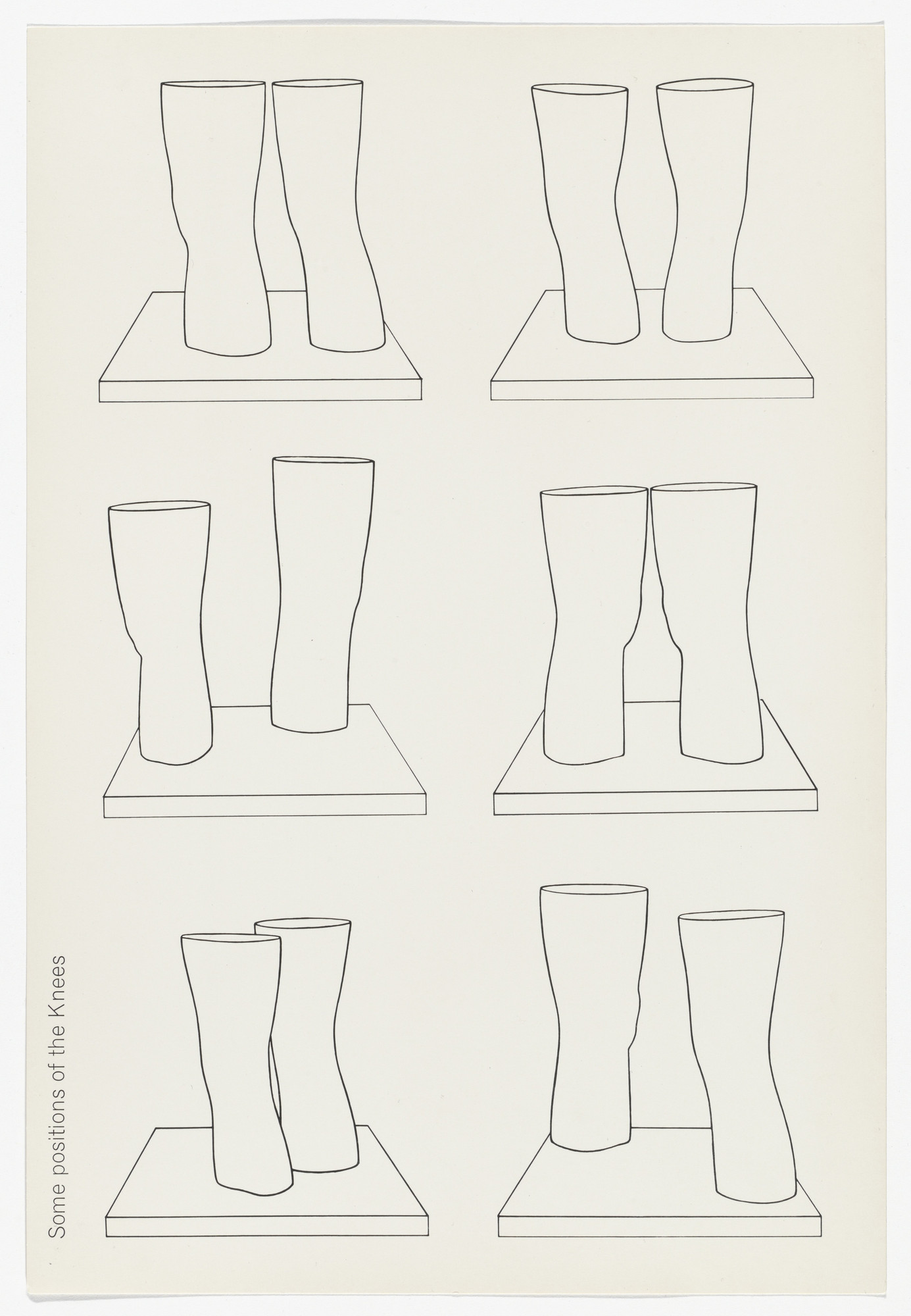 Claes Oldenburg. Untitled (Some Positions of the Knees) from London Knees 1966. 1966, published 1968