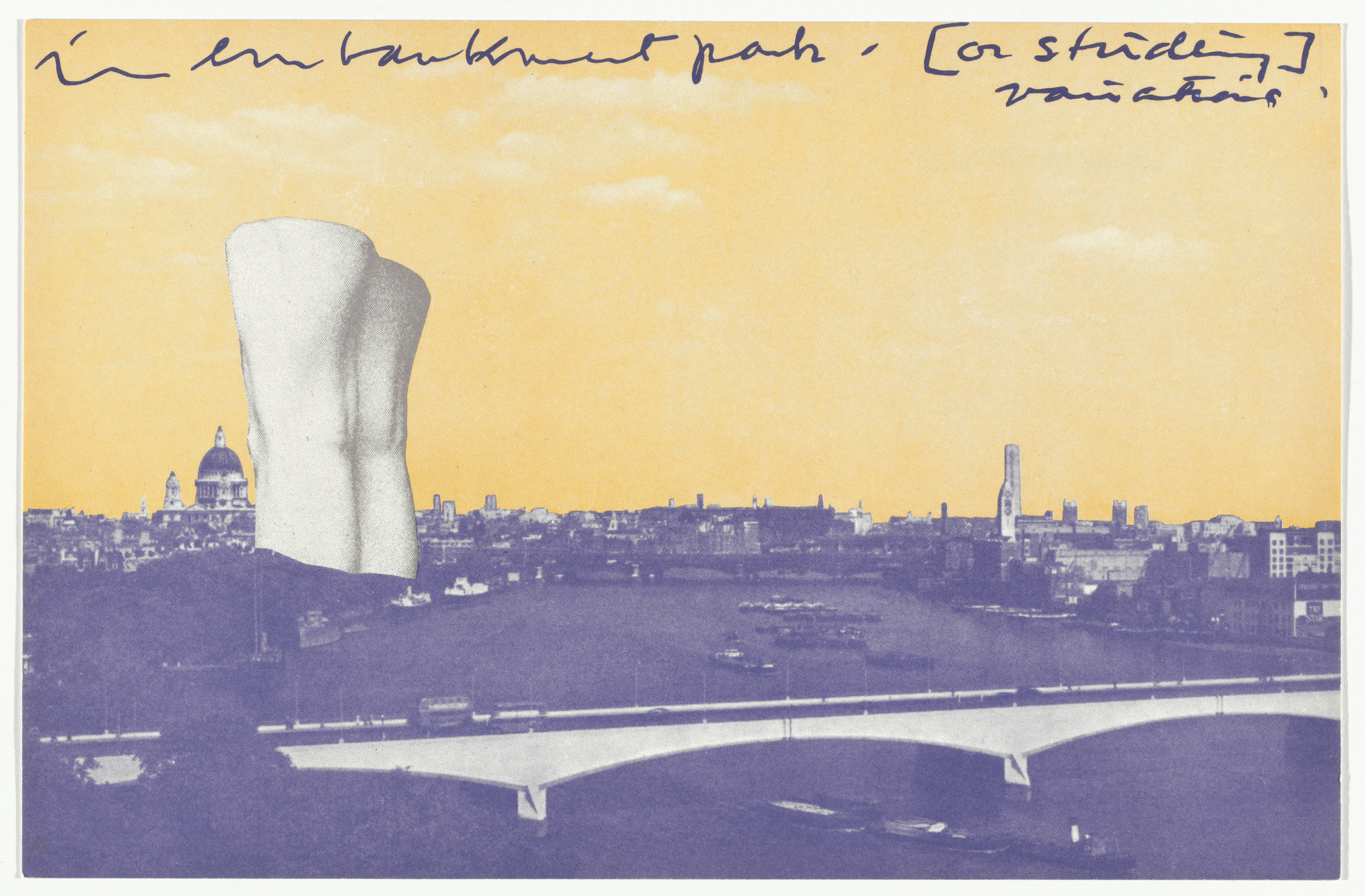 Claes Oldenburg. Giant Postcard: Dawn from London Knees 1966. 1966, published 1968