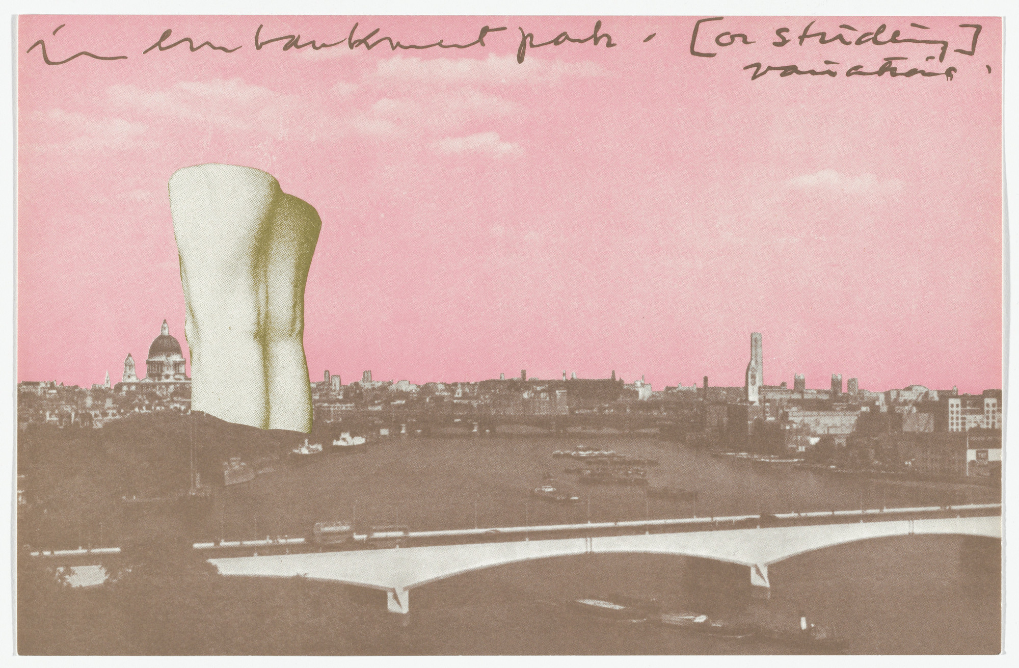 Claes Oldenburg. Giant Postcard: Sunset from London Knees 1966. 1966, published 1968