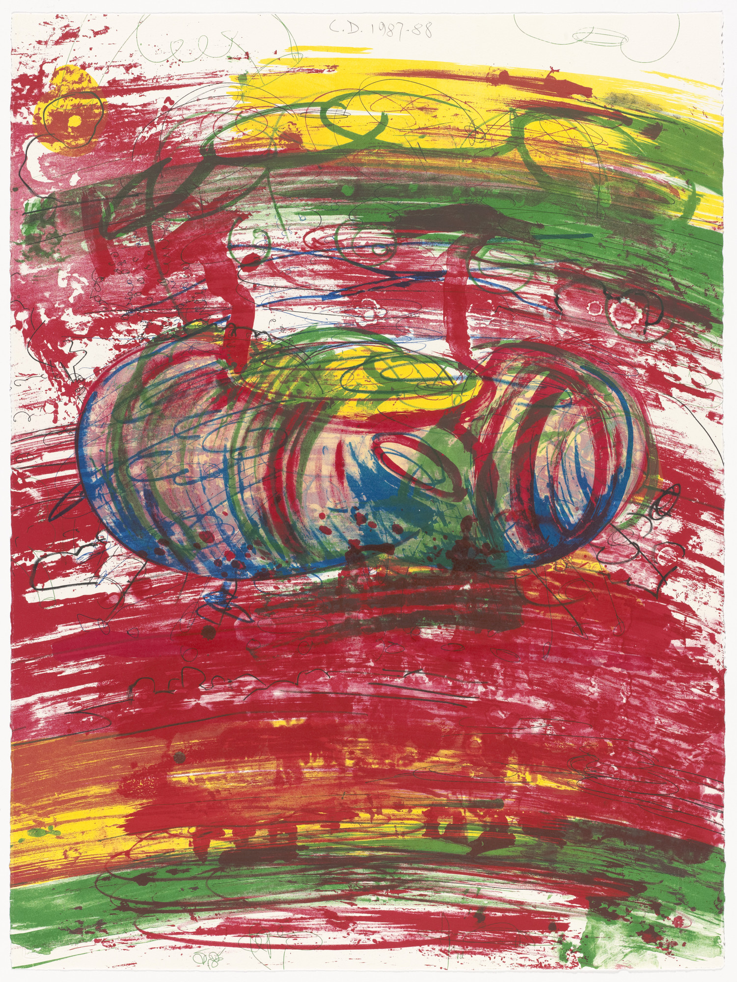 Carroll Dunham. Red (1st) from Red Shift. 1987–88