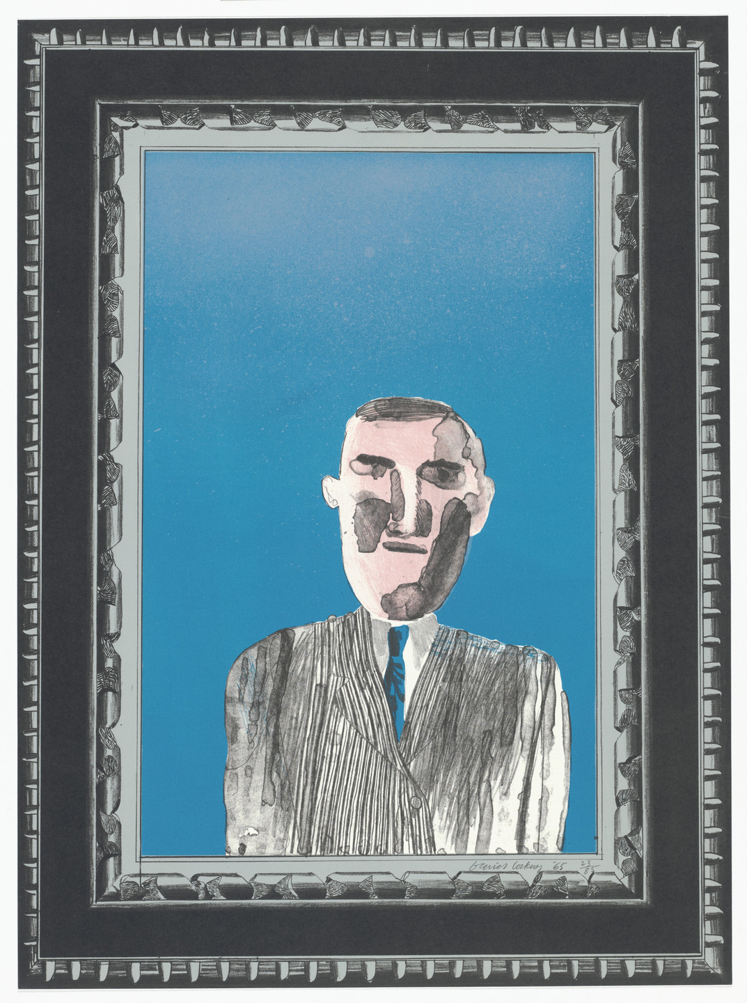 David Hockney. Picture of a Portrait in a Silver Frame from A Hollywood Collection. 1965