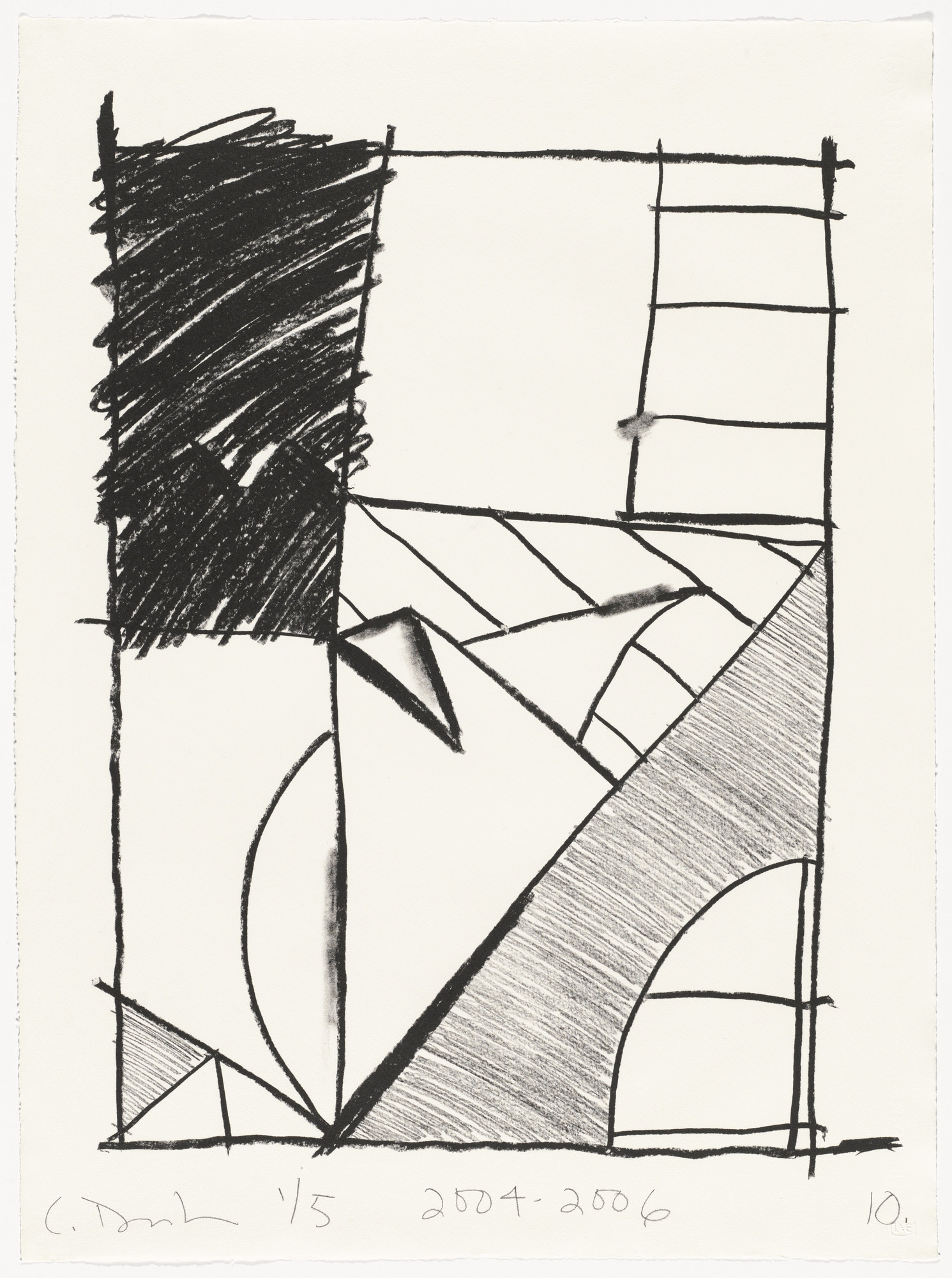 Carroll Dunham. Untitled (10) from Untitled. 2004-06
