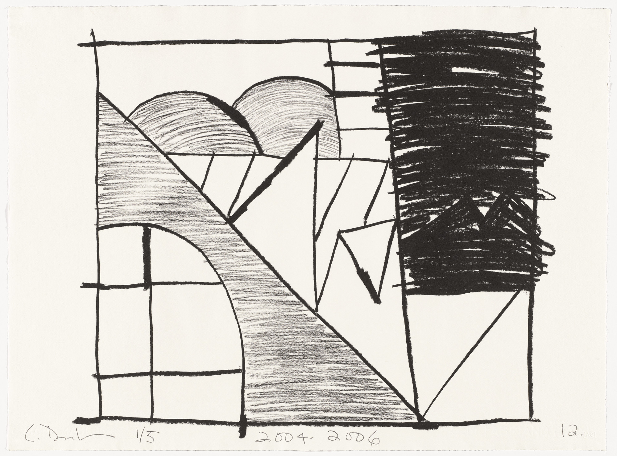 Carroll Dunham. Untitled (12) from Untitled. 2004-06