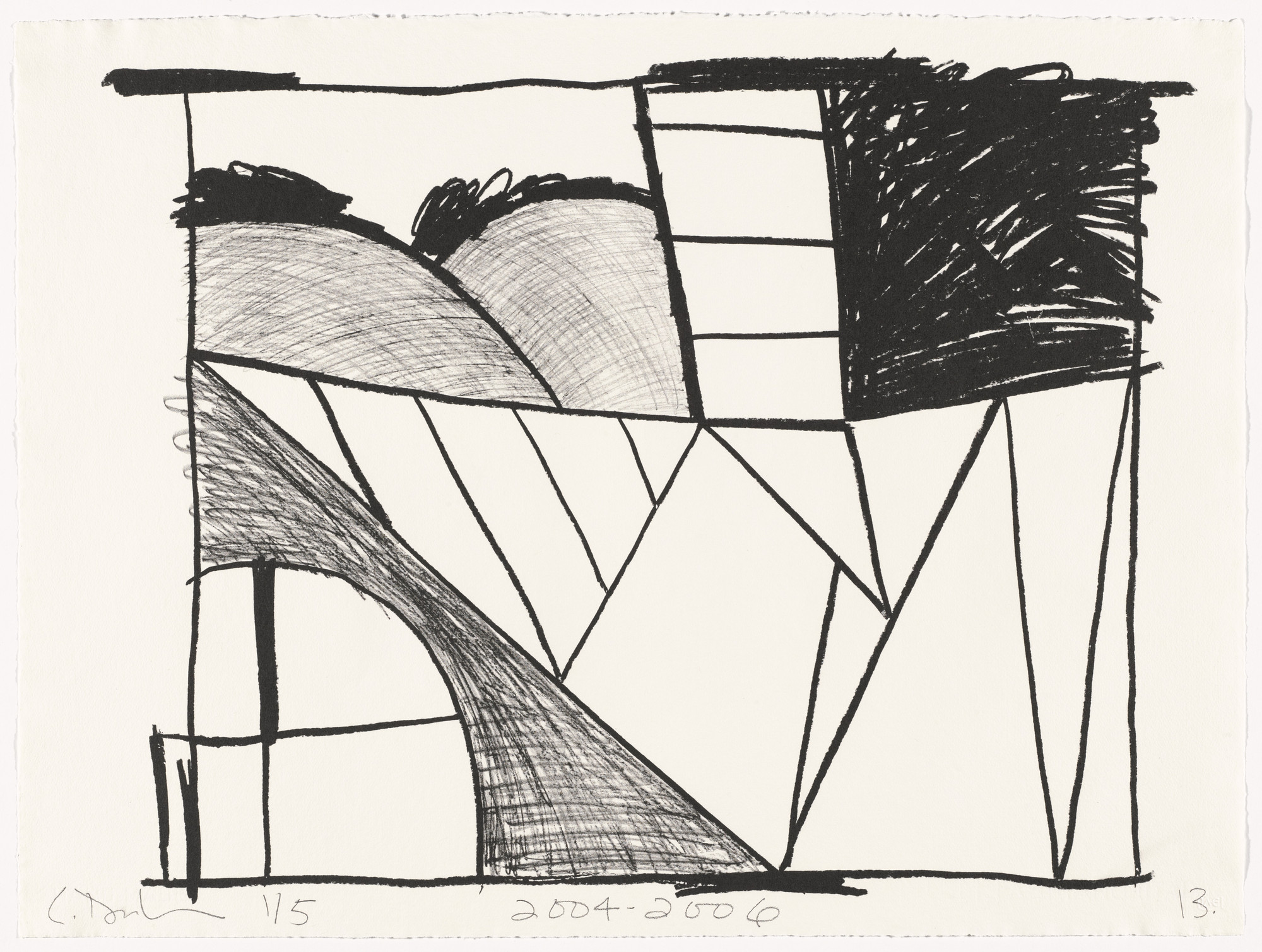 Carroll Dunham. Untitled (13) from Untitled. 2004-06