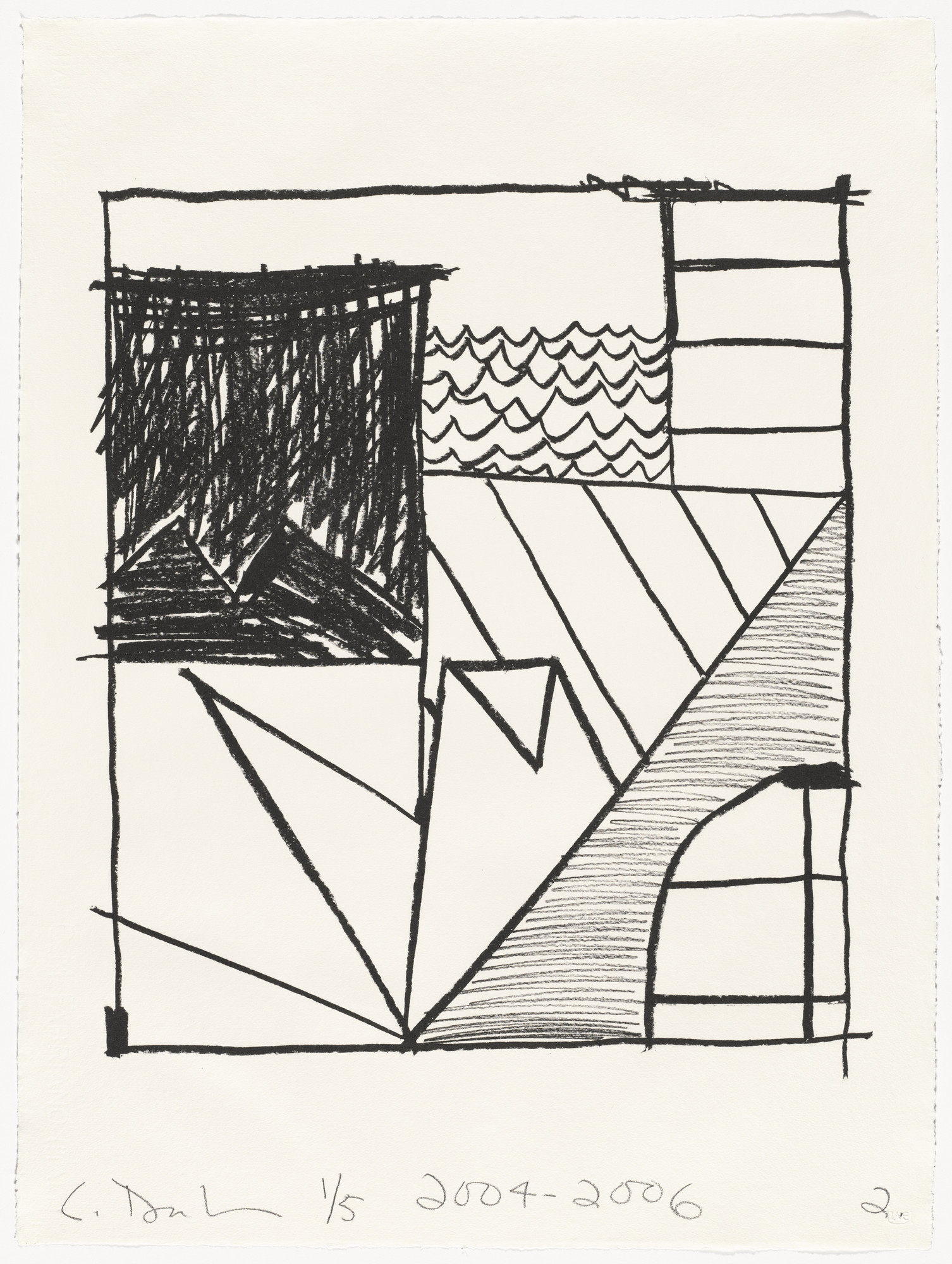 Carroll Dunham. Untitled (2) from Untitled. 2004-06
