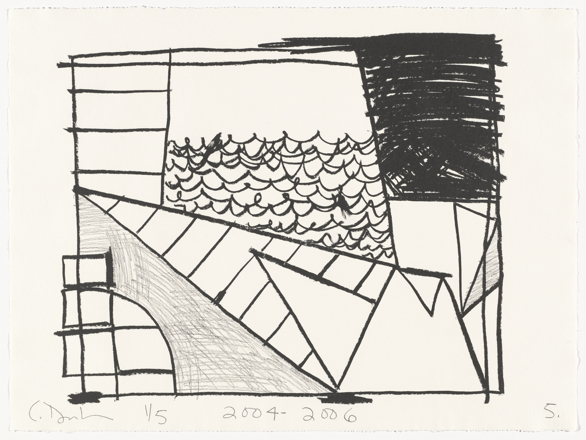 Carroll Dunham. Untitled (5) from Untitled. 2004-06